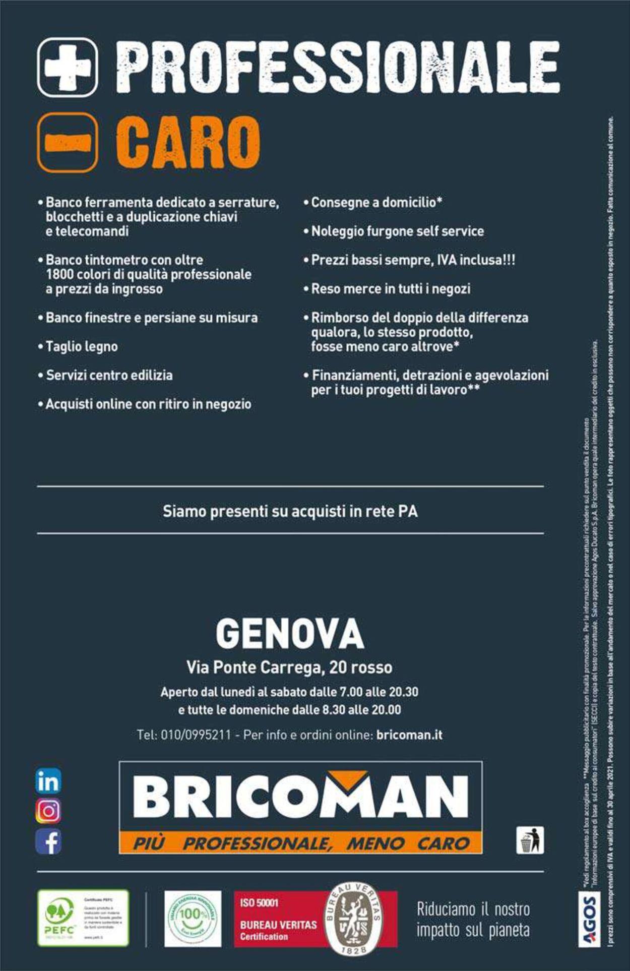 Volantino Bricoman - Offerte 29/03-25/07/2021 (Pagina 452)