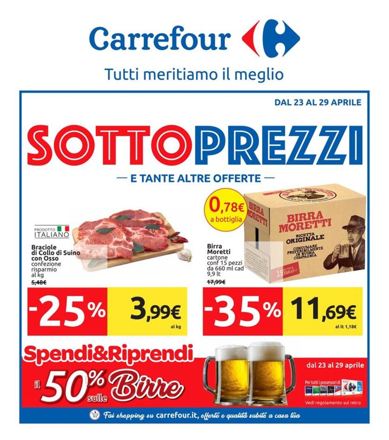 Volantino Carrefour - Offerte 23/04-29/04/2019