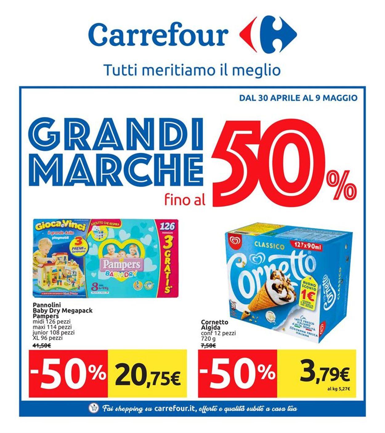 Volantino Carrefour - Offerte 30/04-09/05/2019