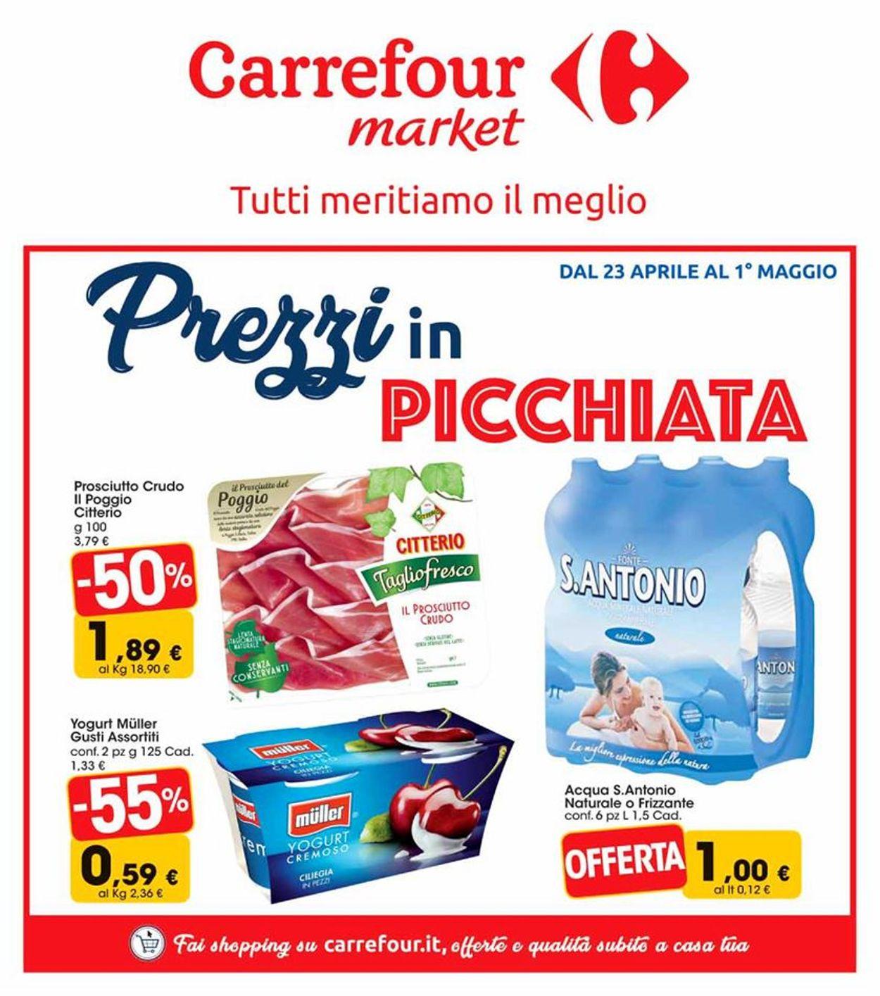 Volantino Carrefour - Offerte 23/04-01/05/2019