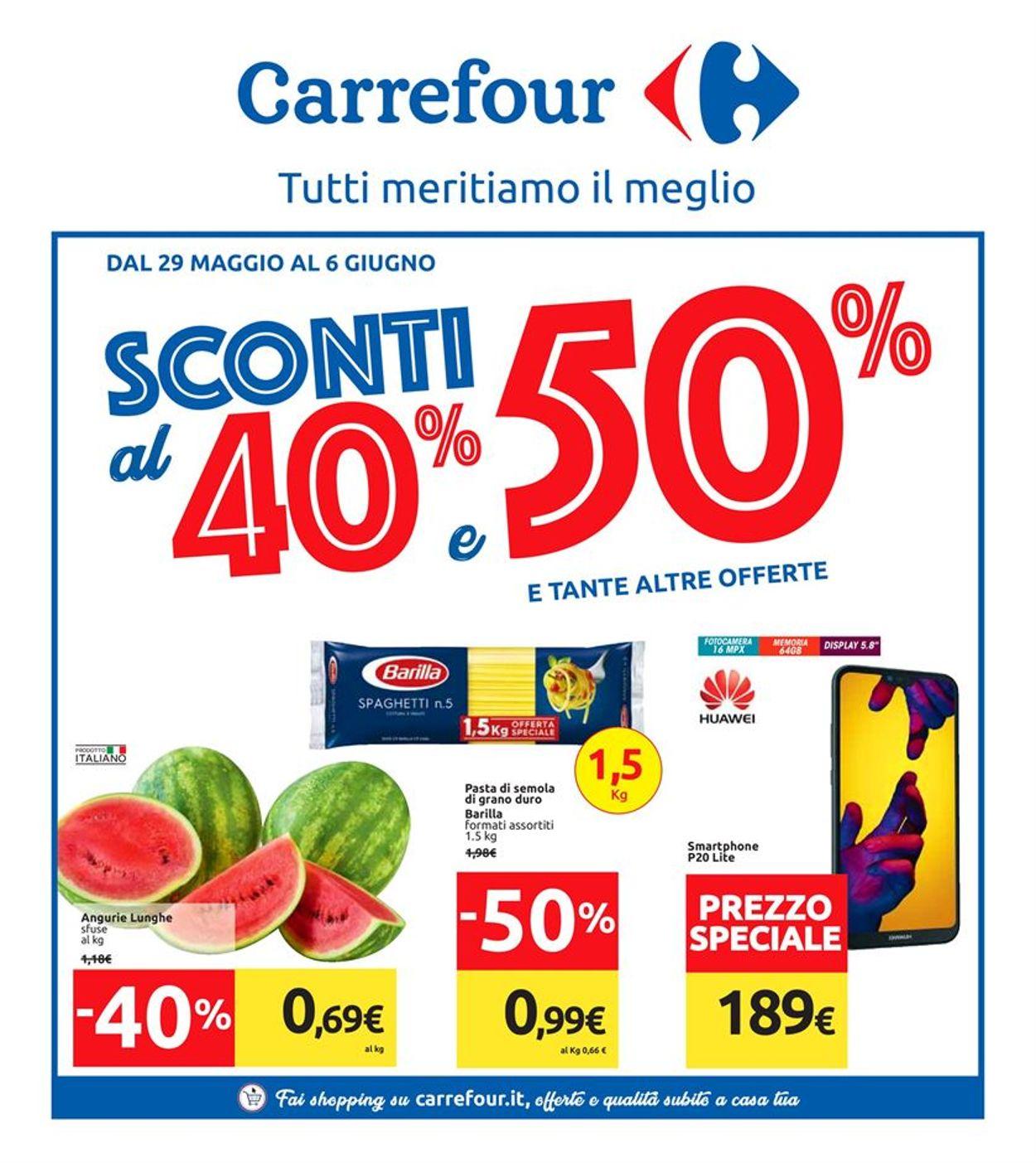 Volantino Carrefour - Offerte 29/05-06/06/2019