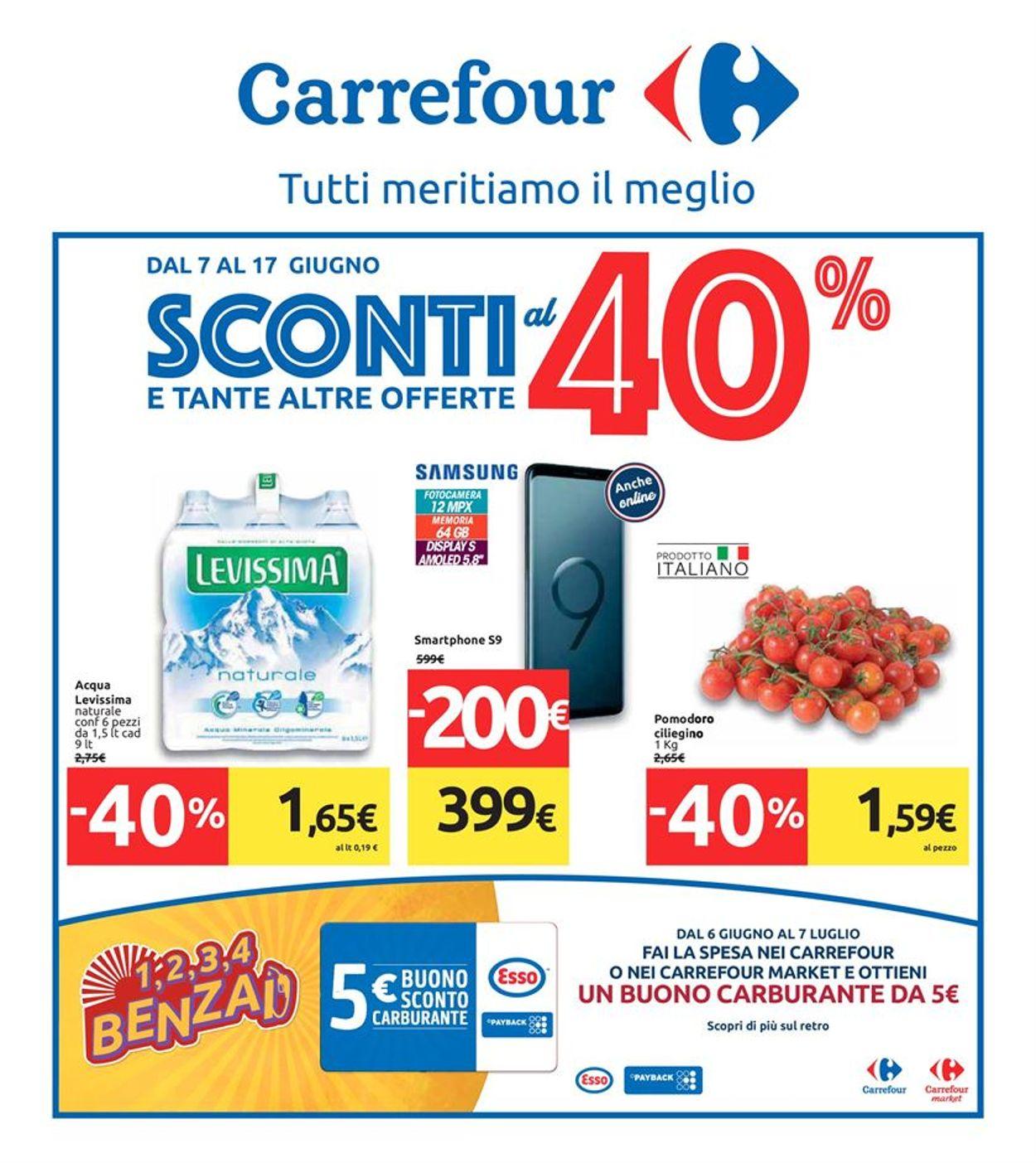Volantino Carrefour - Offerte 07/06-17/06/2019