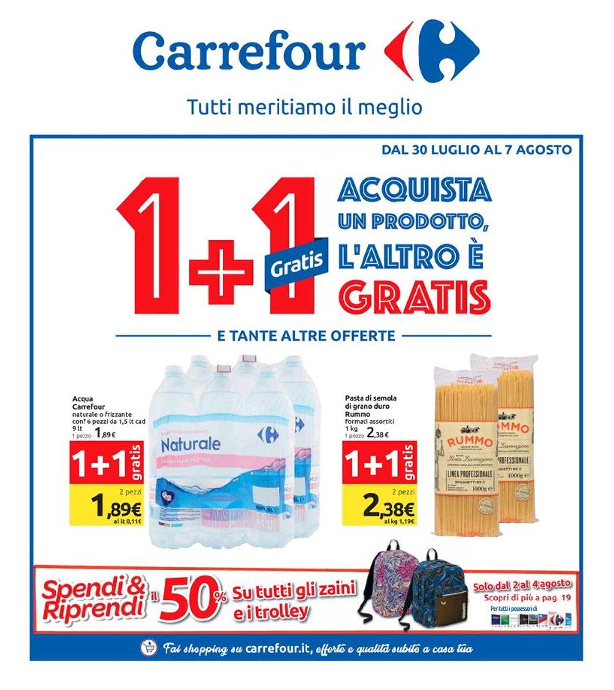 Volantino Carrefour - Offerte 30/07-07/08/2019