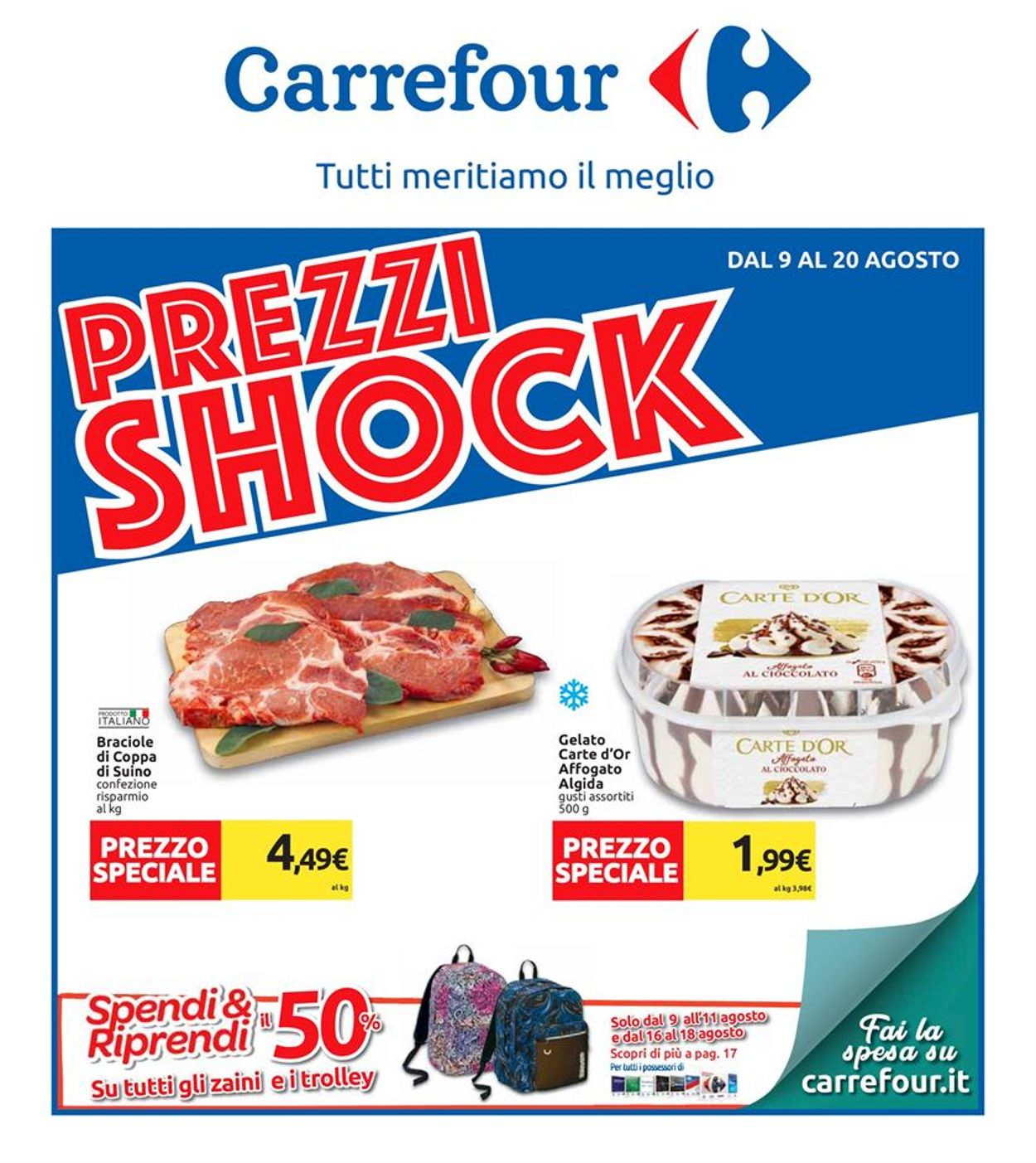 Volantino Carrefour - Offerte 09/08-20/08/2019