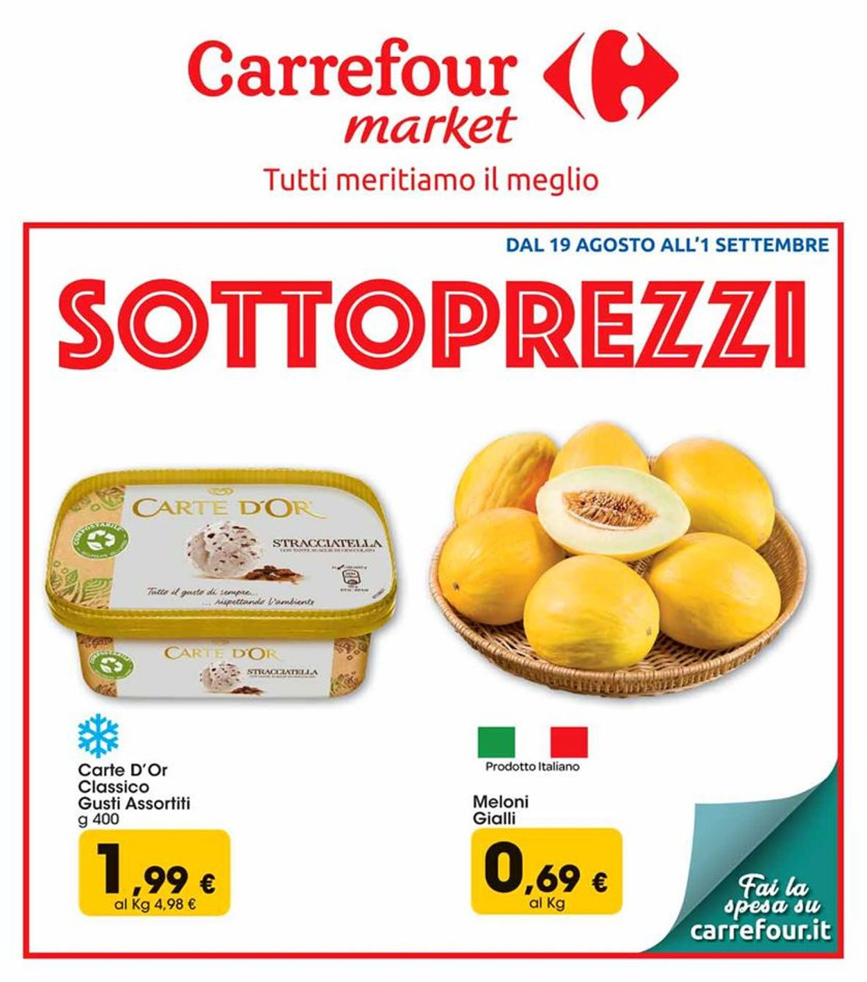 Volantino Carrefour - Offerte 19/08-01/09/2019