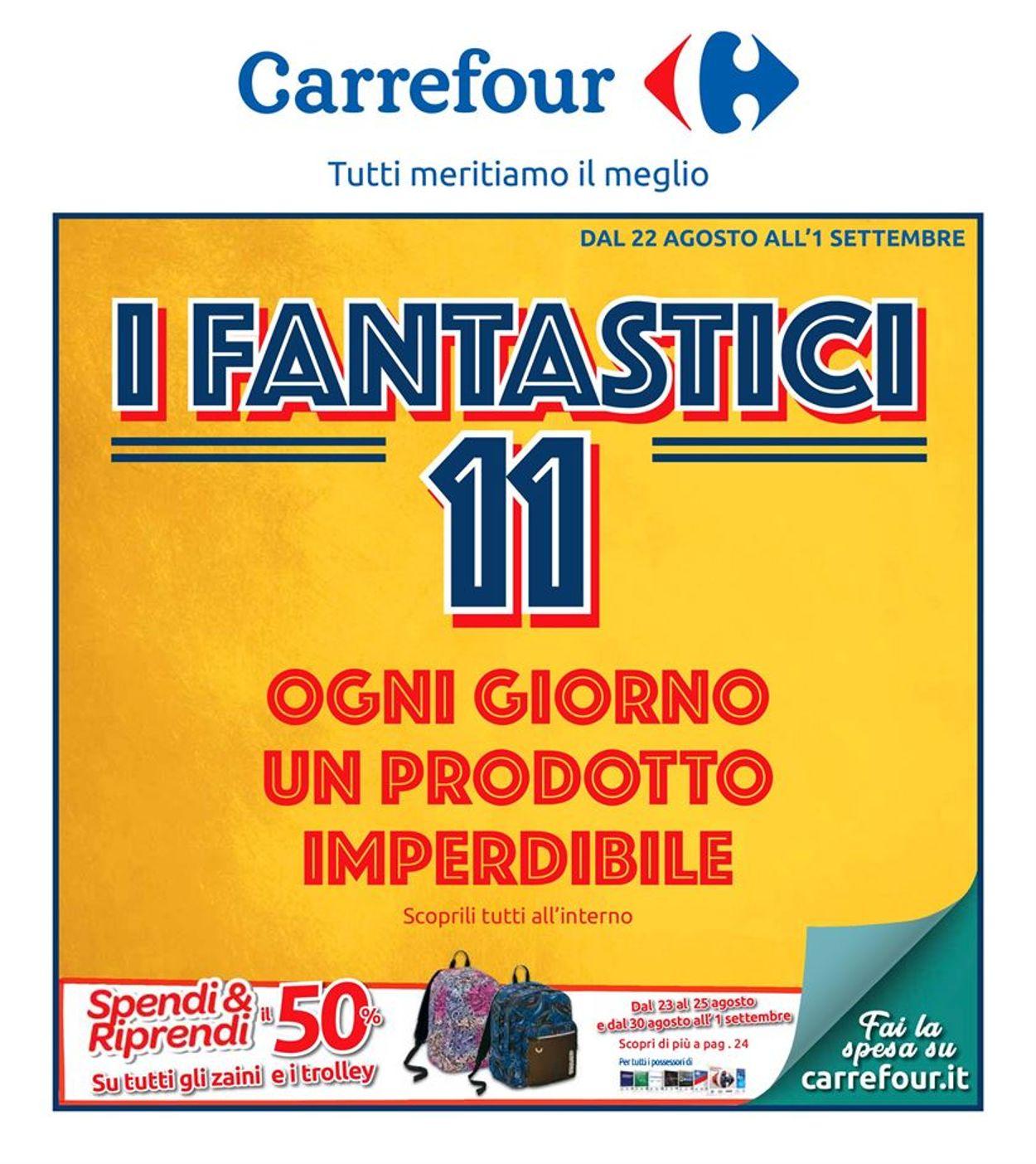 Volantino Carrefour - Offerte 22/08-01/09/2019