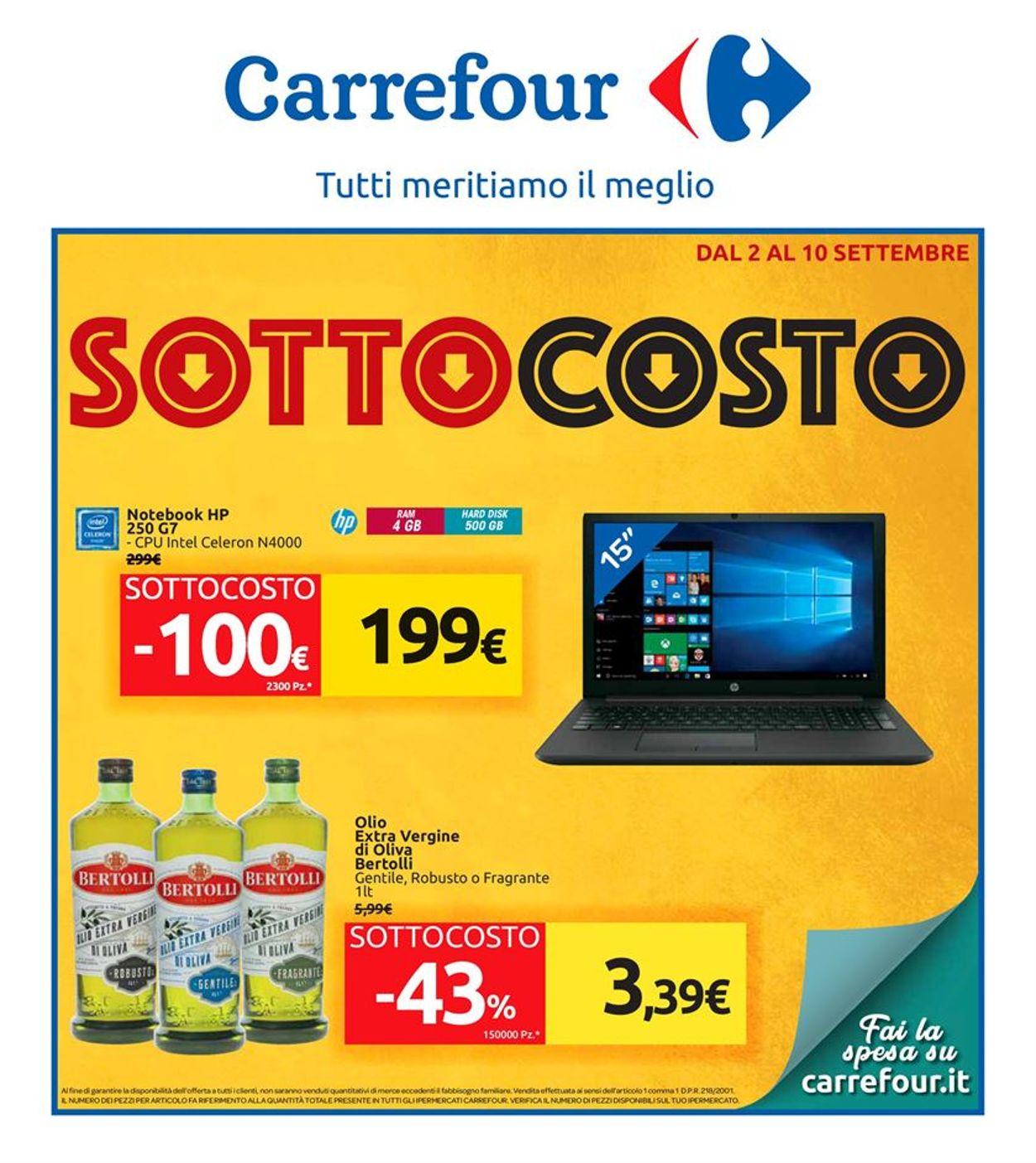 Volantino Carrefour - Offerte 02/09-10/09/2019