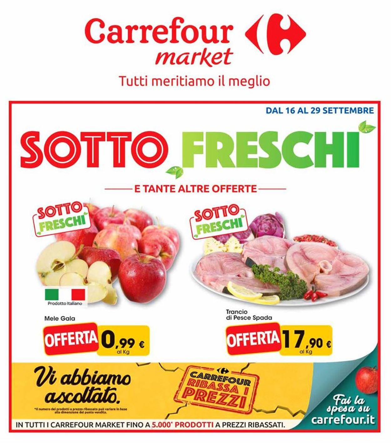 Volantino Carrefour - Offerte 16/09-29/09/2019