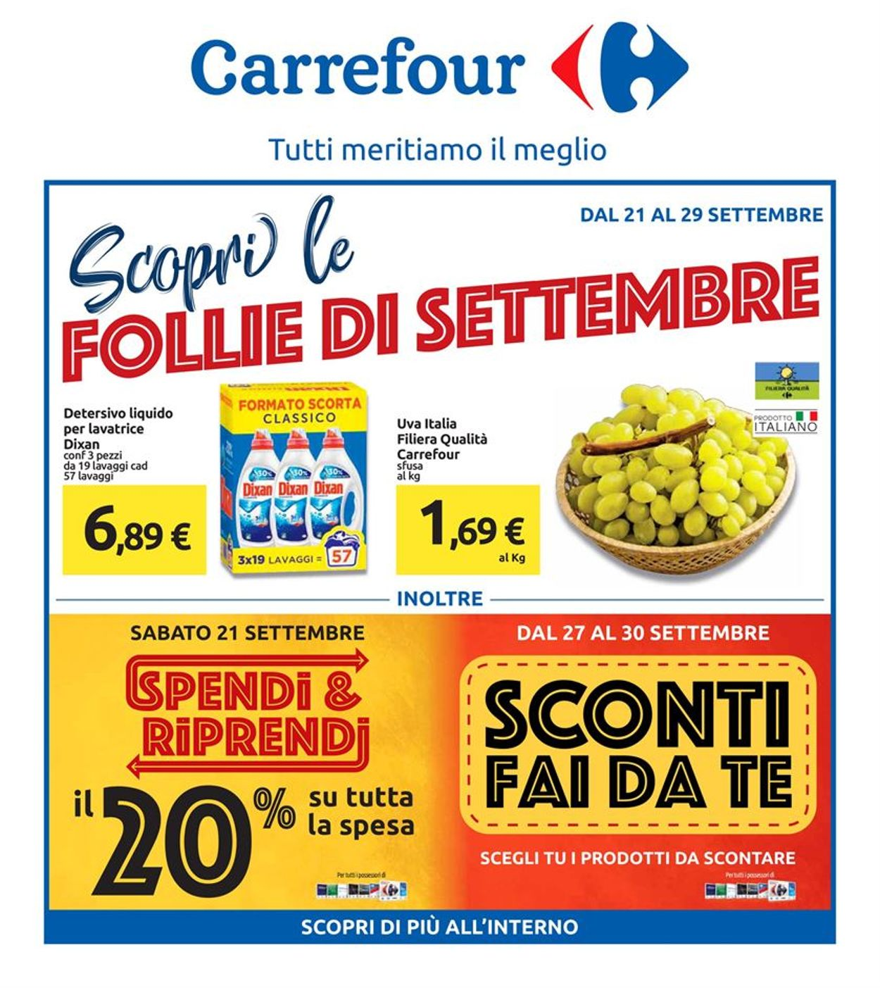 Volantino Carrefour - Offerte 21/09-29/09/2019