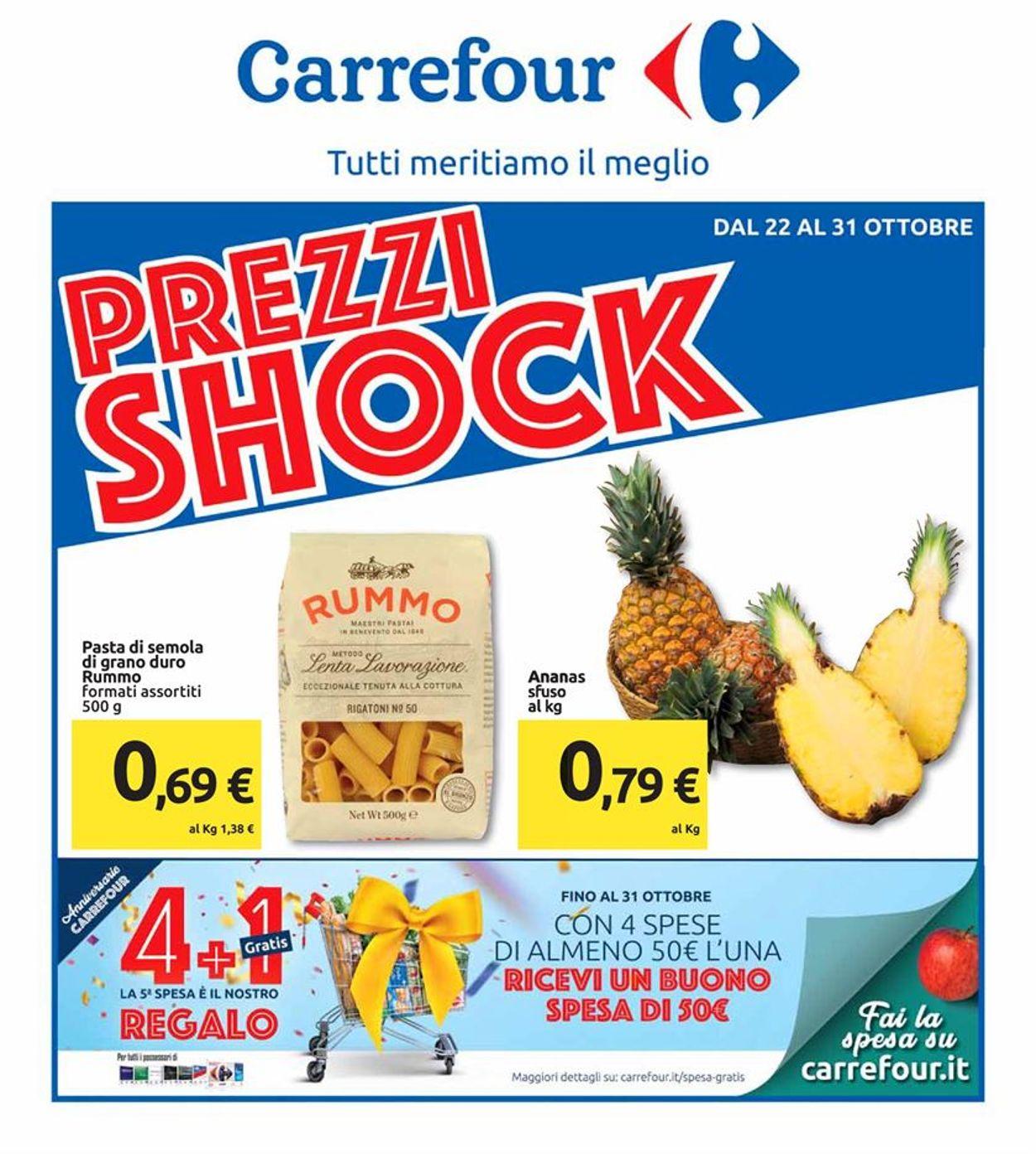 Volantino Carrefour - Offerte 22/10-31/10/2019