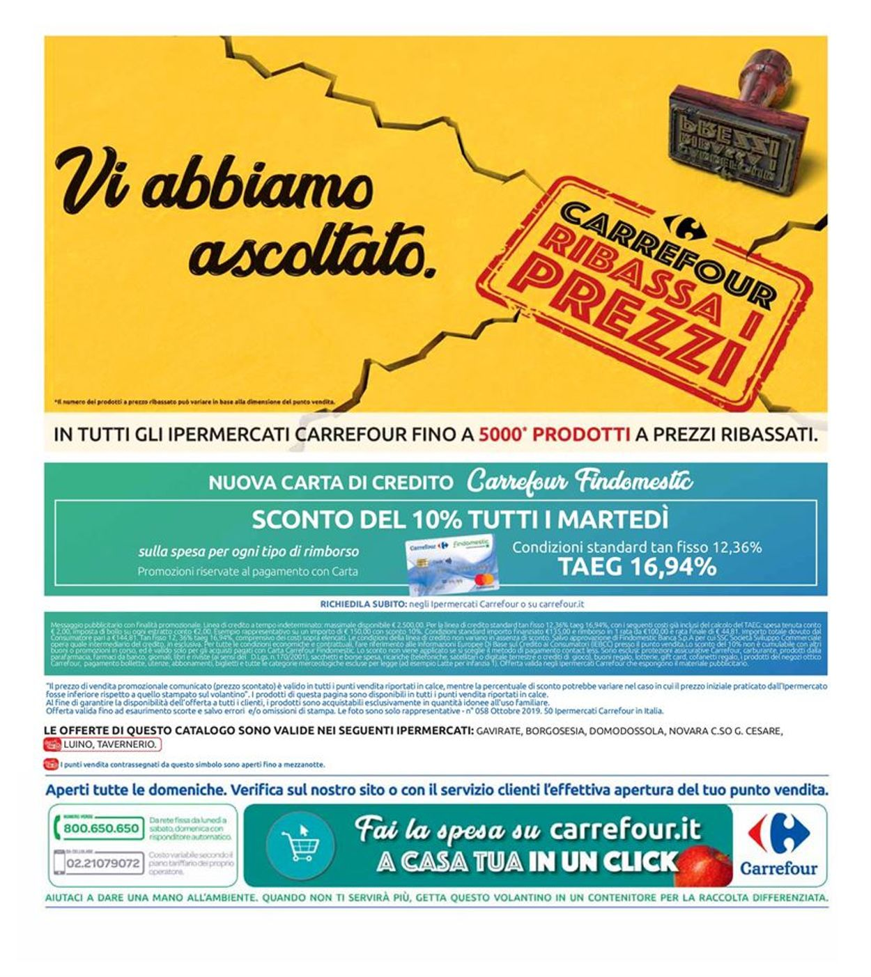 Volantino Carrefour - Offerte 22/10-31/10/2019 (Pagina 34)