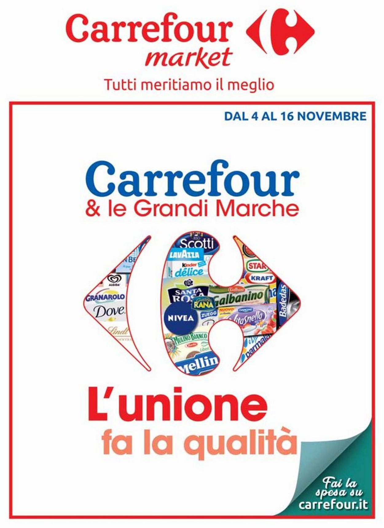 Volantino Carrefour - Offerte 04/11-16/11/2019