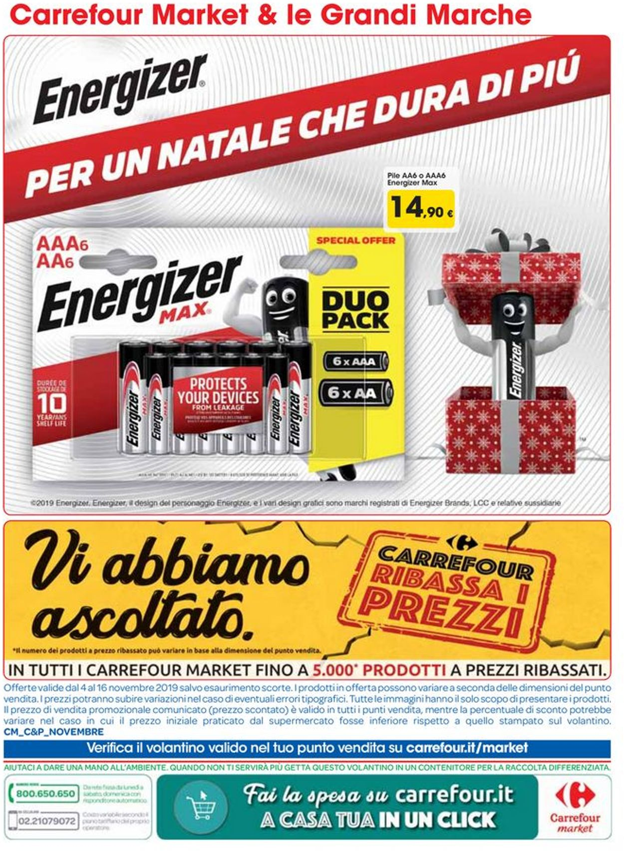 Volantino Carrefour - Offerte 04/11-16/11/2019 (Pagina 14)