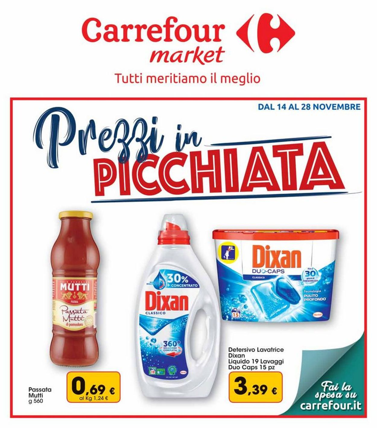 Volantino Carrefour - Offerte 14/11-28/11/2019