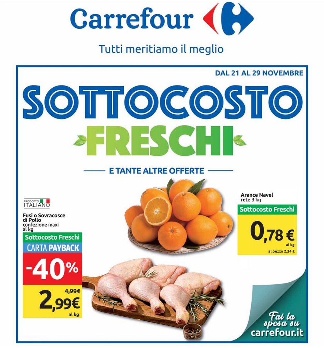 Volantino Carrefour - Offerte 21/11-29/11/2019