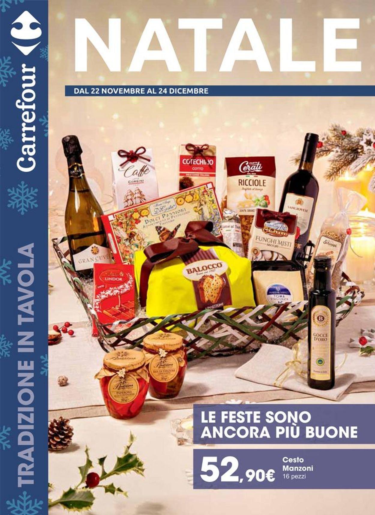 Volantino Il volantino natalizio di Carrefour - Offerte 22/11-24/12/2019