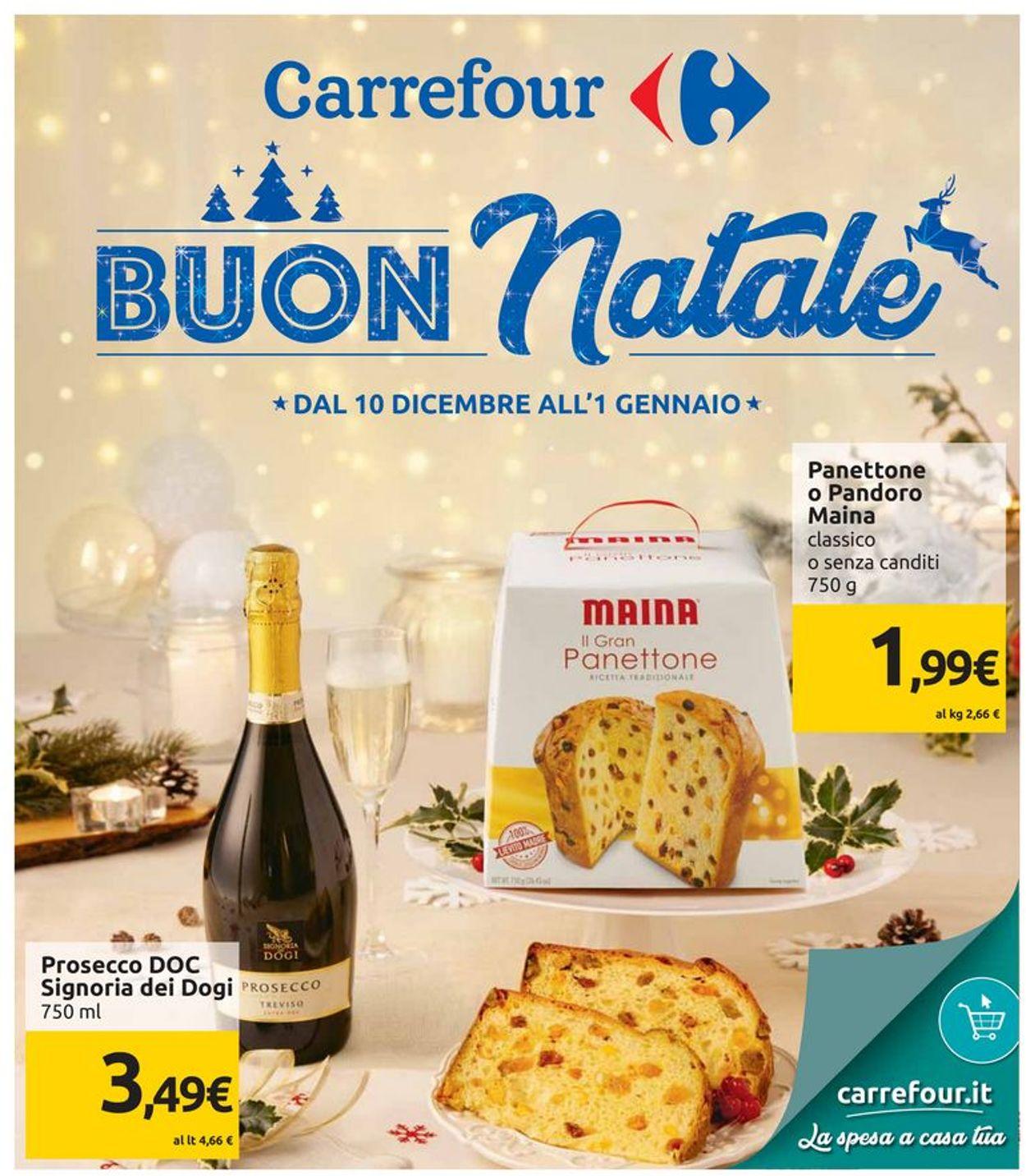 Volantino Il volantino natalizio di Carrefour - Offerte 10/12-01/01/2020