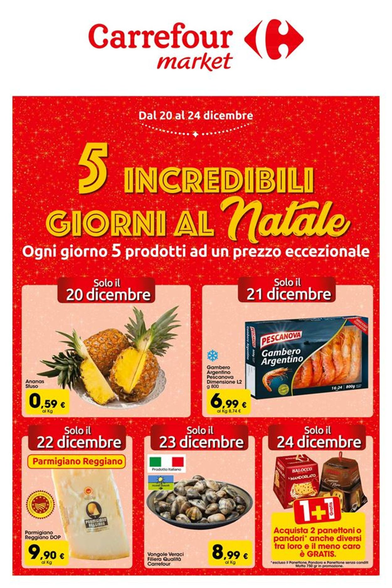 Volantino Carrefour - Offerte 20/12-24/12/2019
