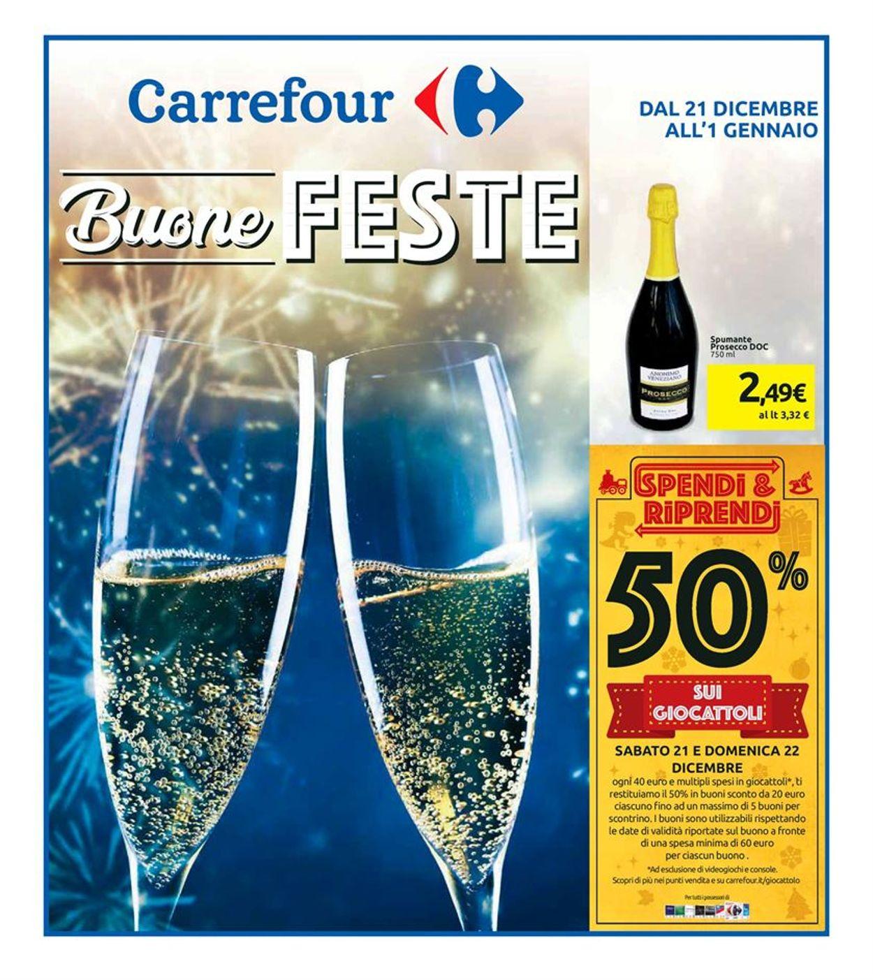 Volantino Il volantino natalizio di Carrefour - Offerte 21/12-01/01/2020
