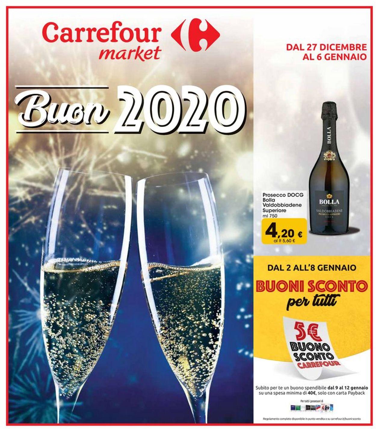 Volantino Carrefour - Volantino per Capodanno - Offerte 27/12-06/01/2020