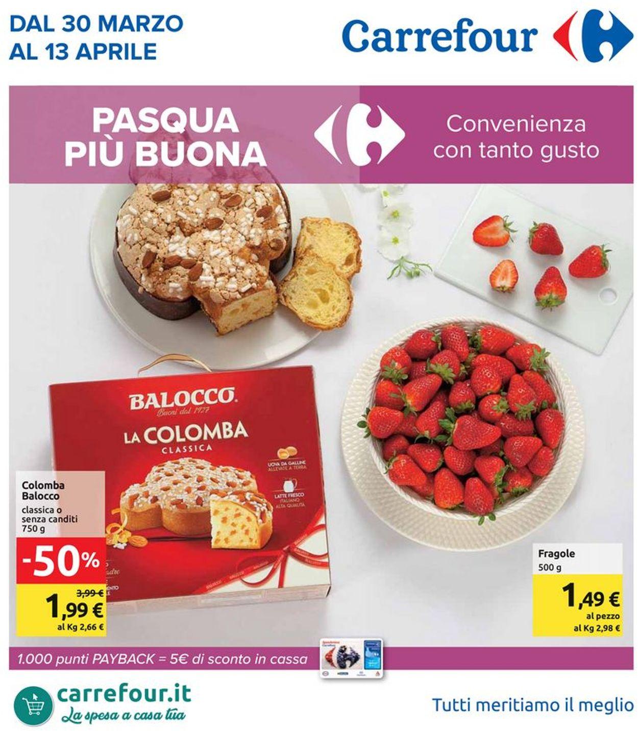 Volantino Carrefour - Offerte 30/03-13/04/2020