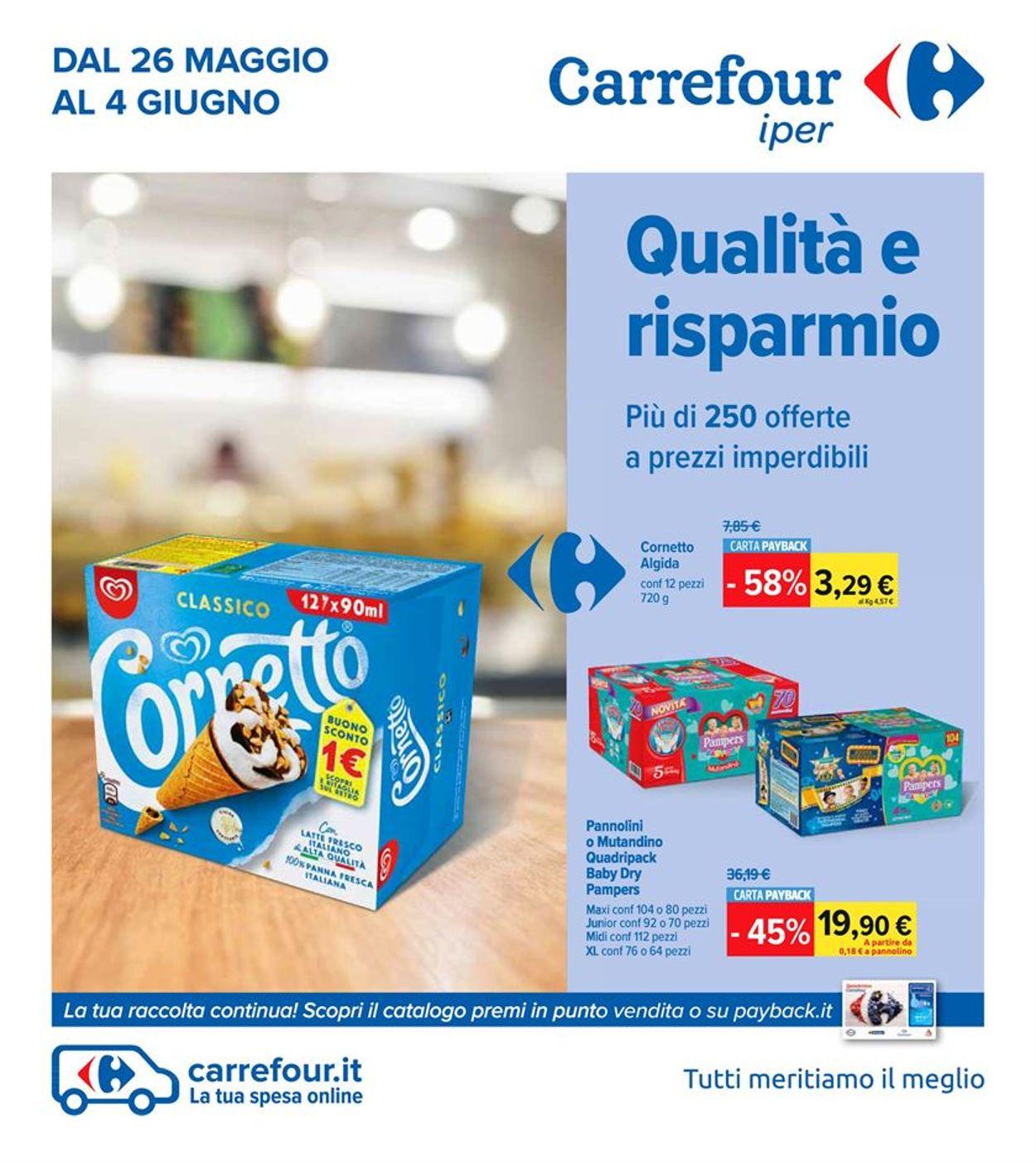 Volantino Carrefour - Offerte 26/05-04/06/2020