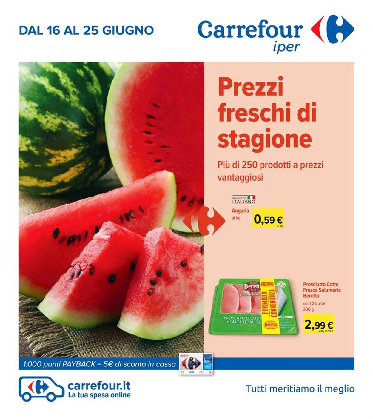 Volantino Carrefour - Offerte 16/06-25/06/2020