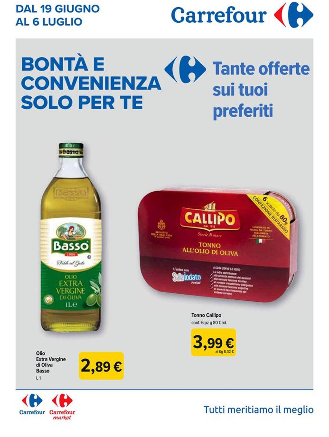 Volantino Carrefour - Offerte 19/06-06/07/2020