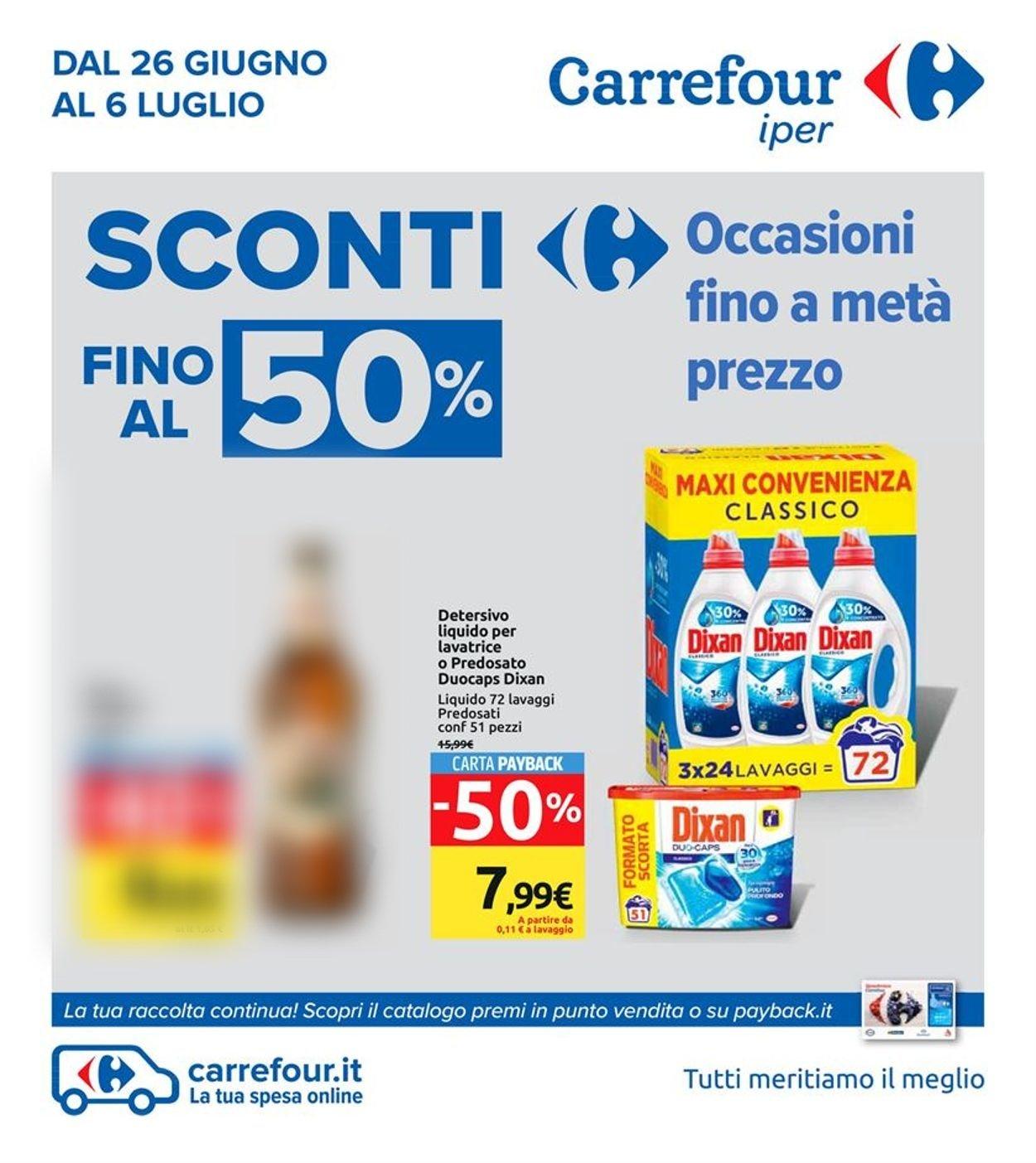 Volantino Carrefour - Offerte 26/06-06/07/2020