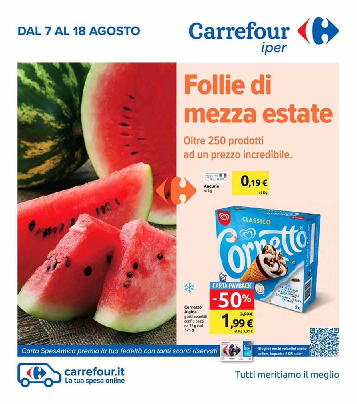 Volantino Carrefour - Offerte 07/08-18/08/2020