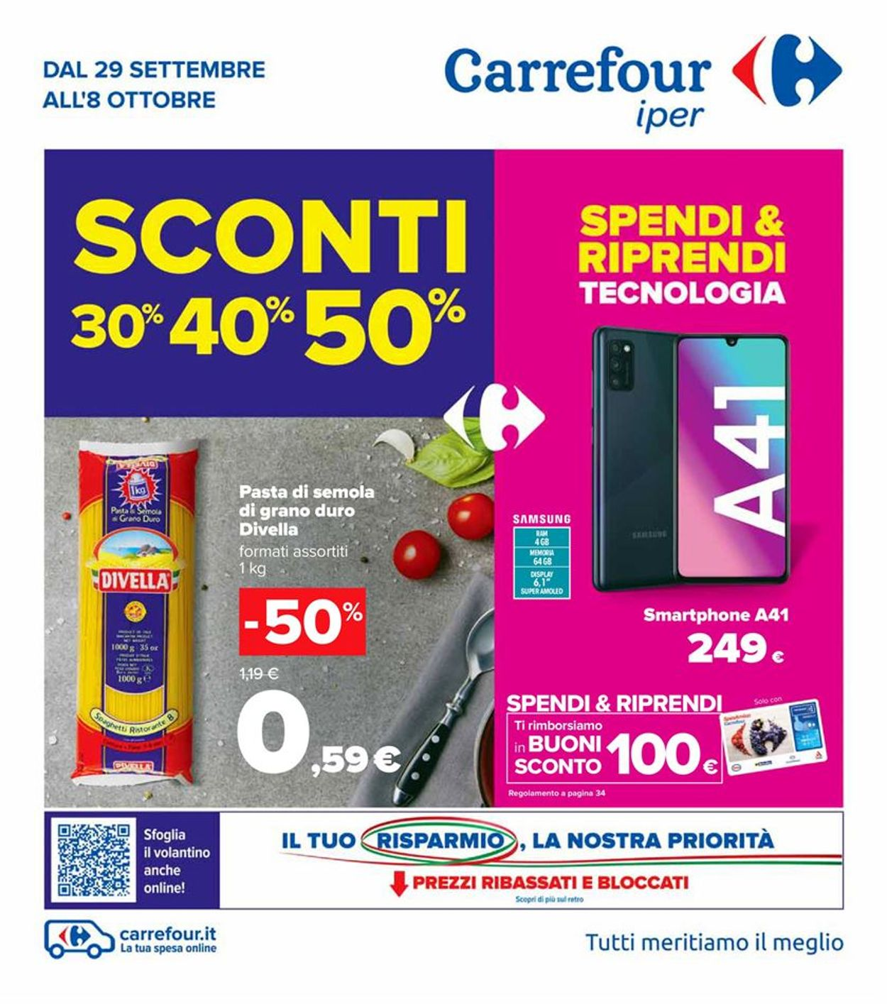 Volantino Carrefour - Offerte 29/09-08/10/2020