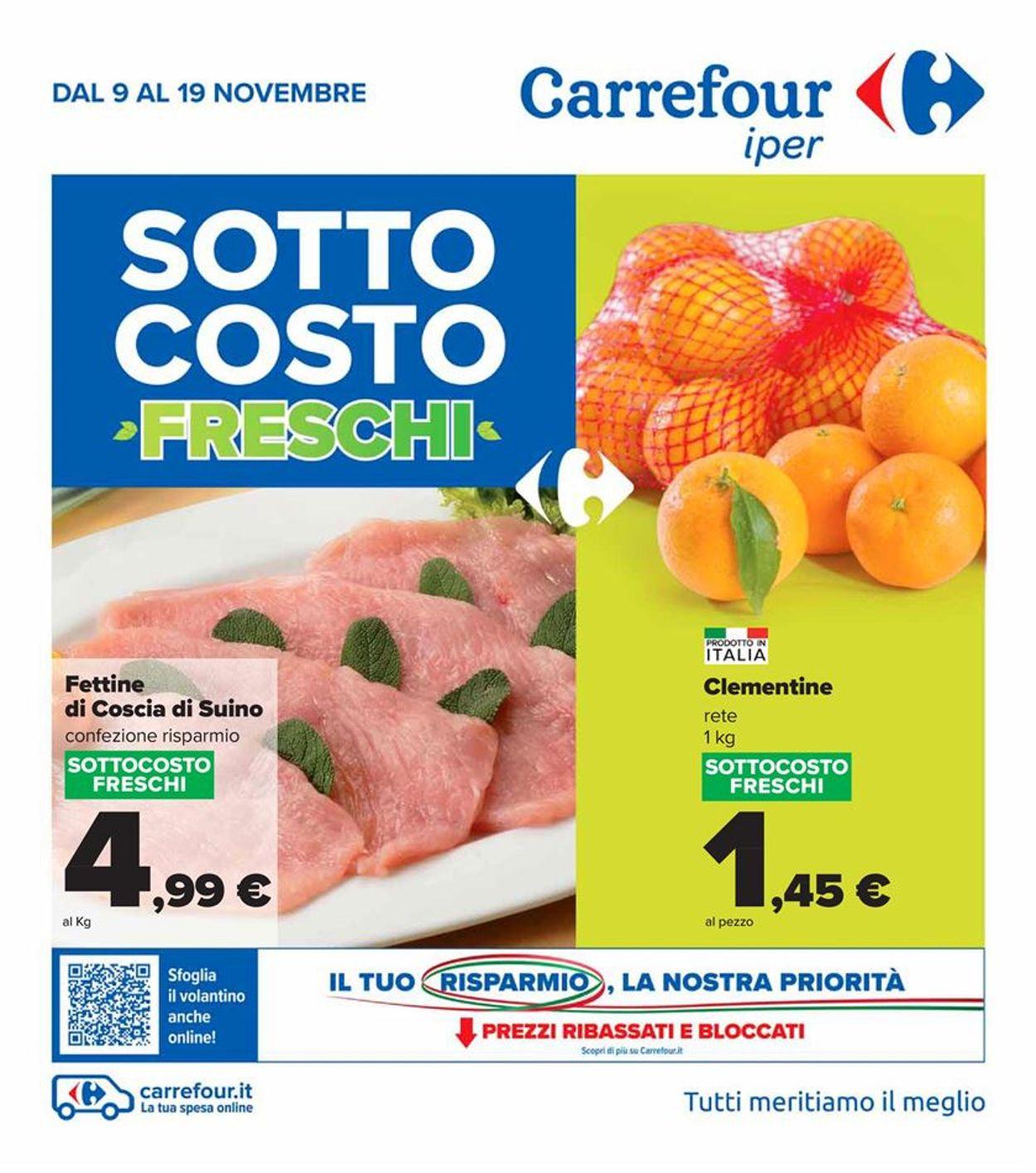 Volantino Carrefour - Offerte 09/11-19/11/2020