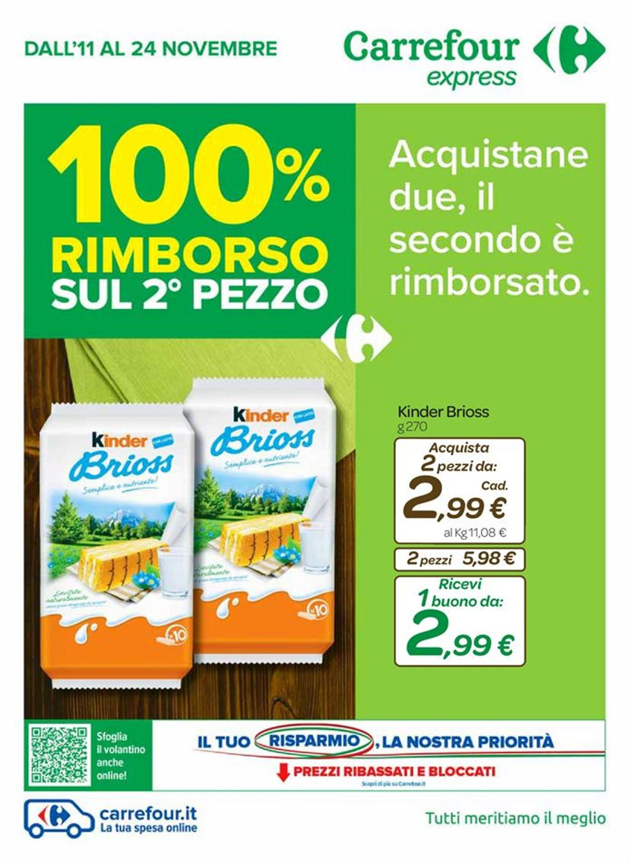 Volantino Carrefour - Offerte 11/11-24/11/2020