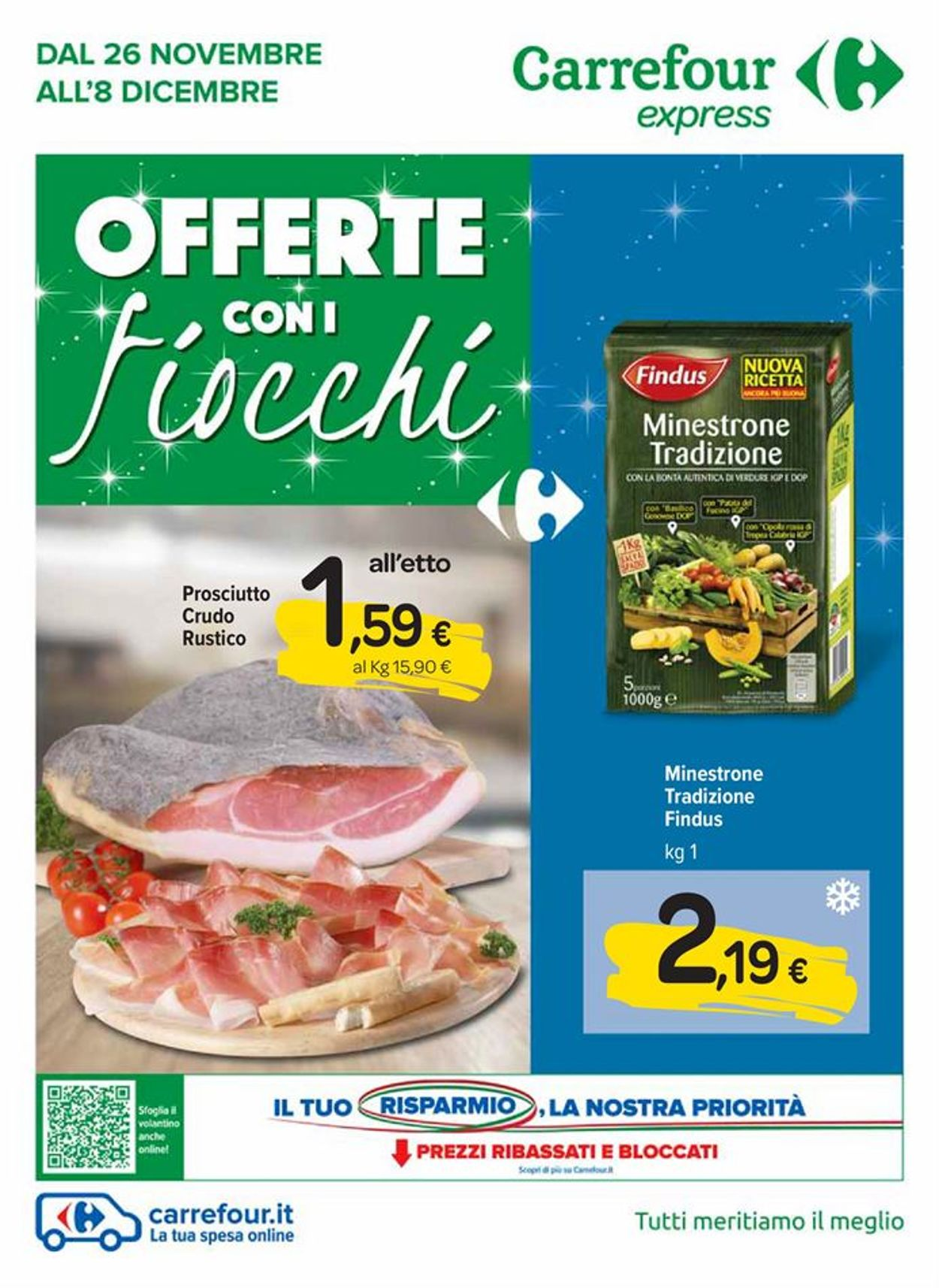 Volantino Carrefour - Natale 2020 - Offerte 26/11-08/12/2020