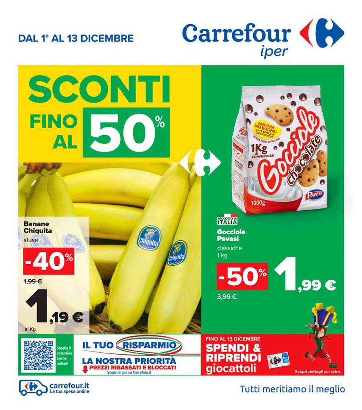 Volantino Carrefour - Offerte 01/12-13/12/2020