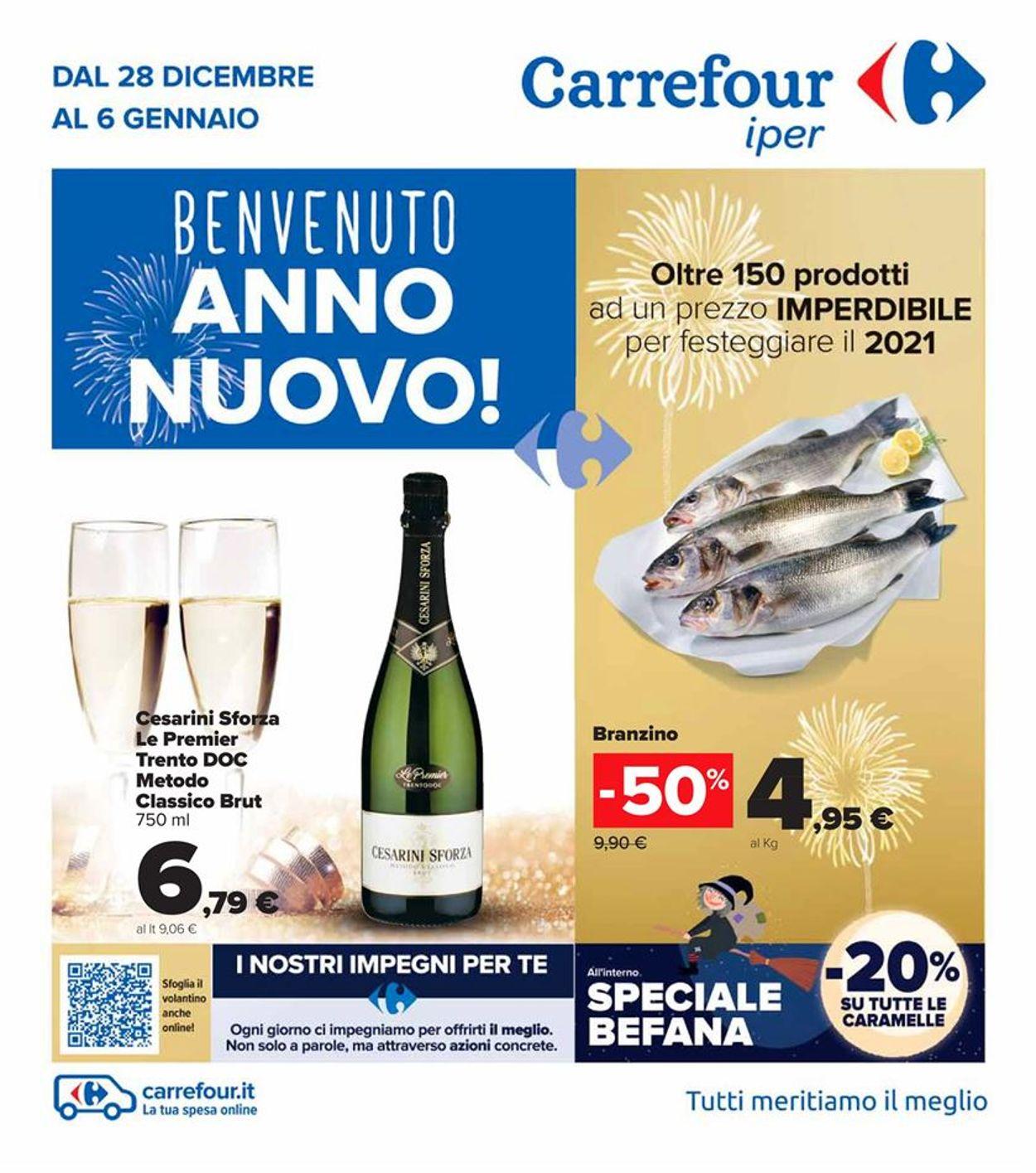Volantino Carrefour - Offerte 28/12-06/01/2021