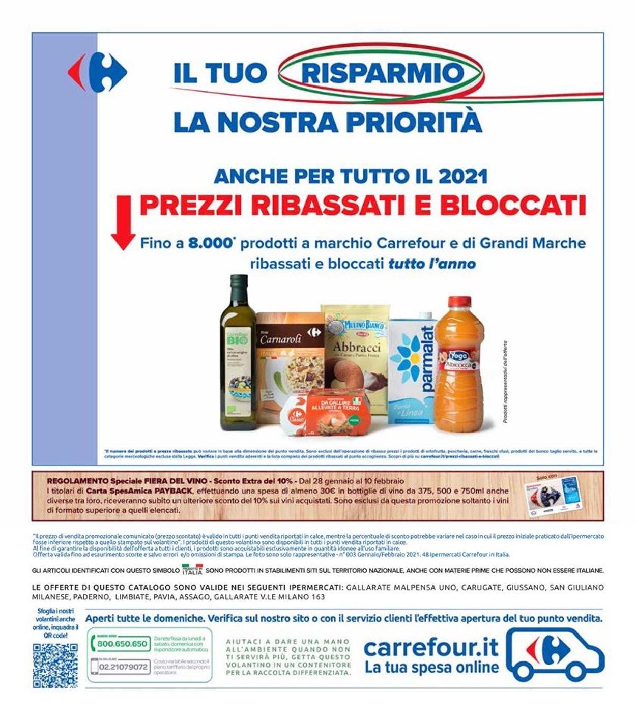 Volantino Carrefour Iper - Offerte 28/01-10/02/2021 (Pagina 42)