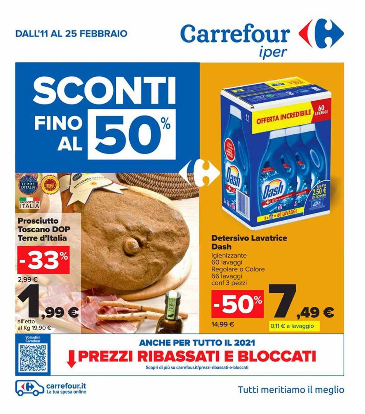 Volantino Carrefour Iper - Offerte 11/02-25/02/2021