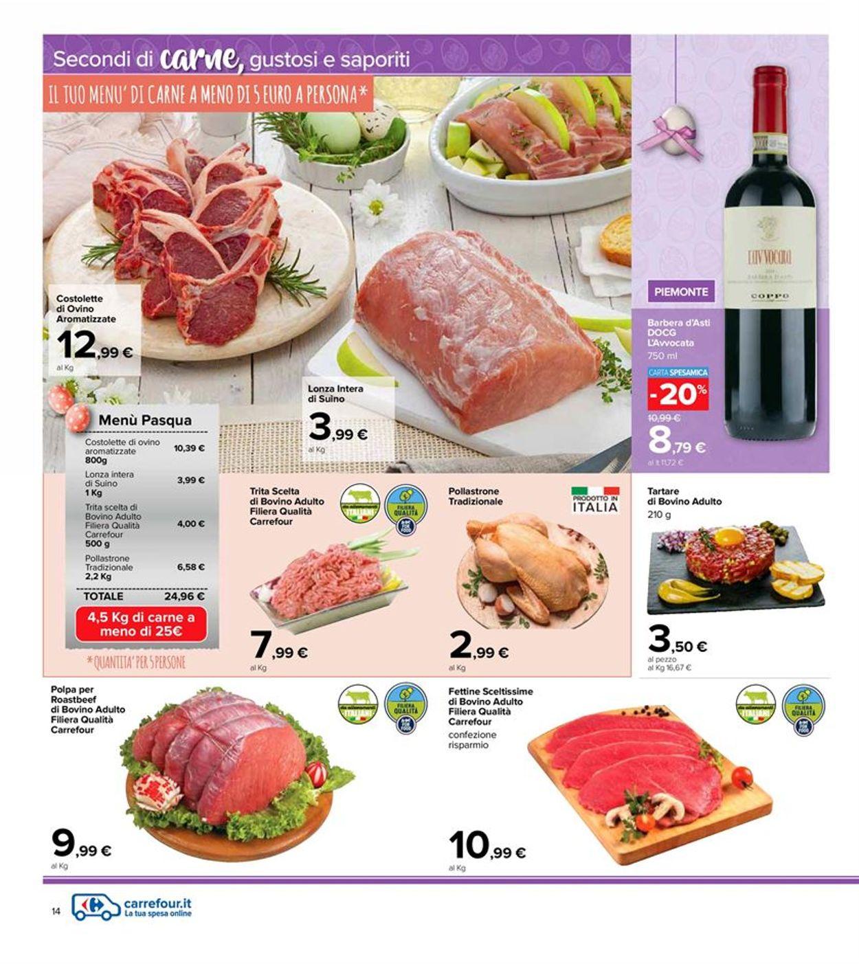 Volantino Carrefour - Pasqua 2021! - Offerte 22/03-05/04/2021 (Pagina 14)