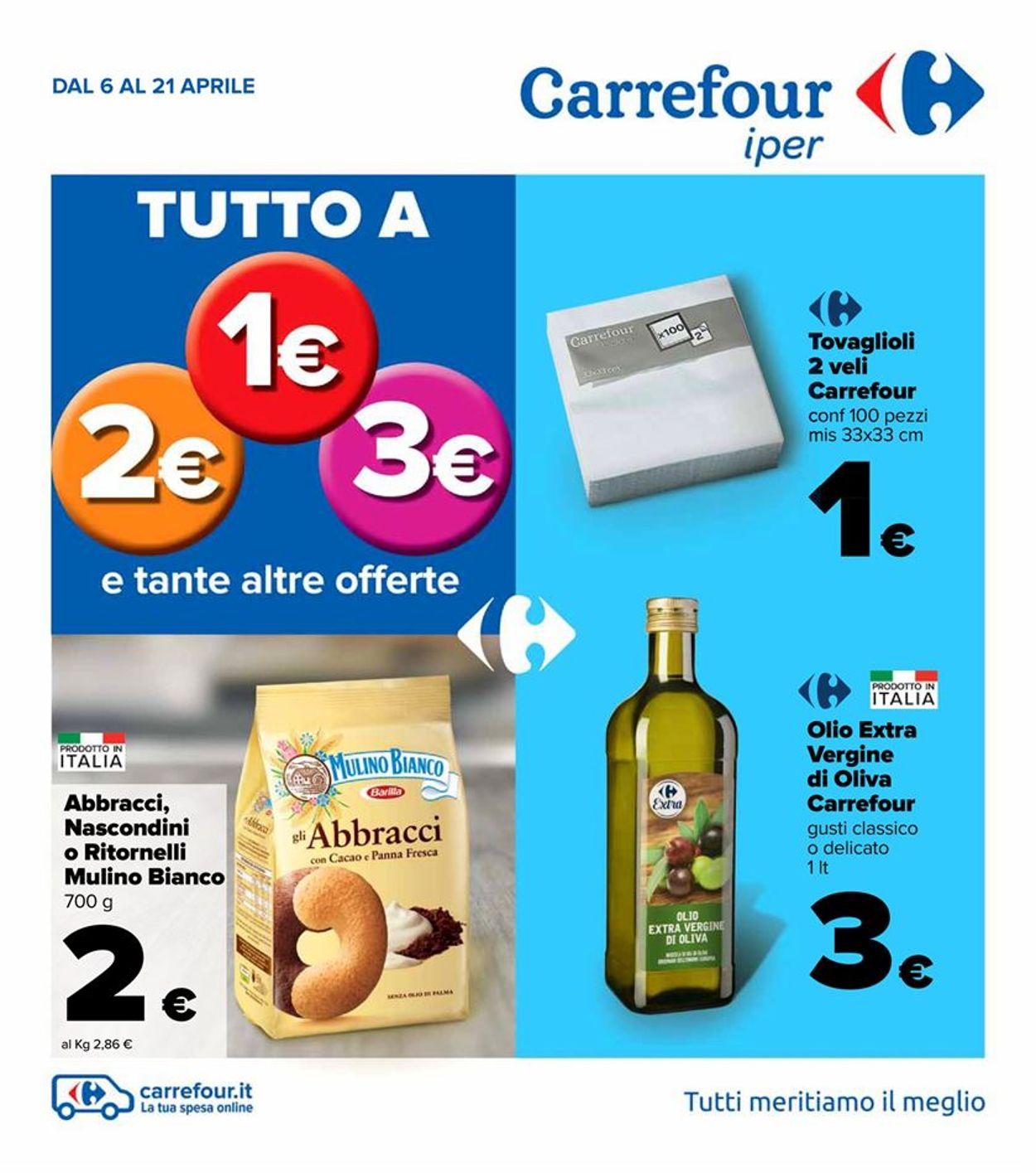 Volantino Carrefour - Offerte 06/04-21/04/2021