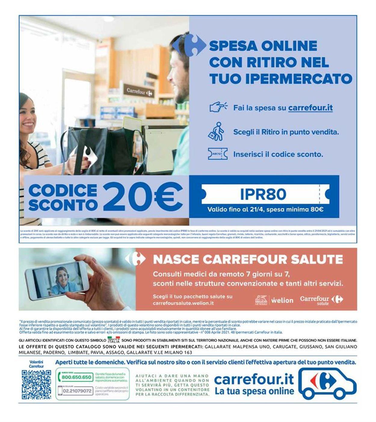 Volantino Carrefour - Offerte 06/04-21/04/2021 (Pagina 50)