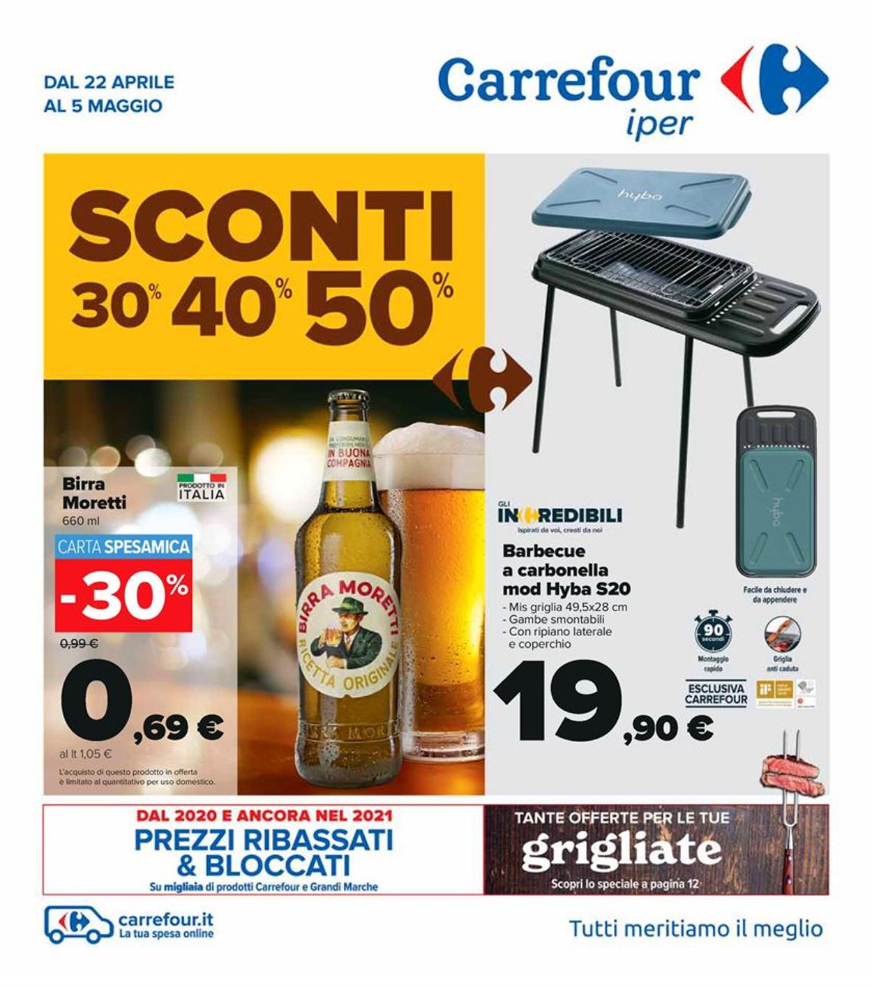 Volantino Carrefour - Offerte 22/04-05/05/2021