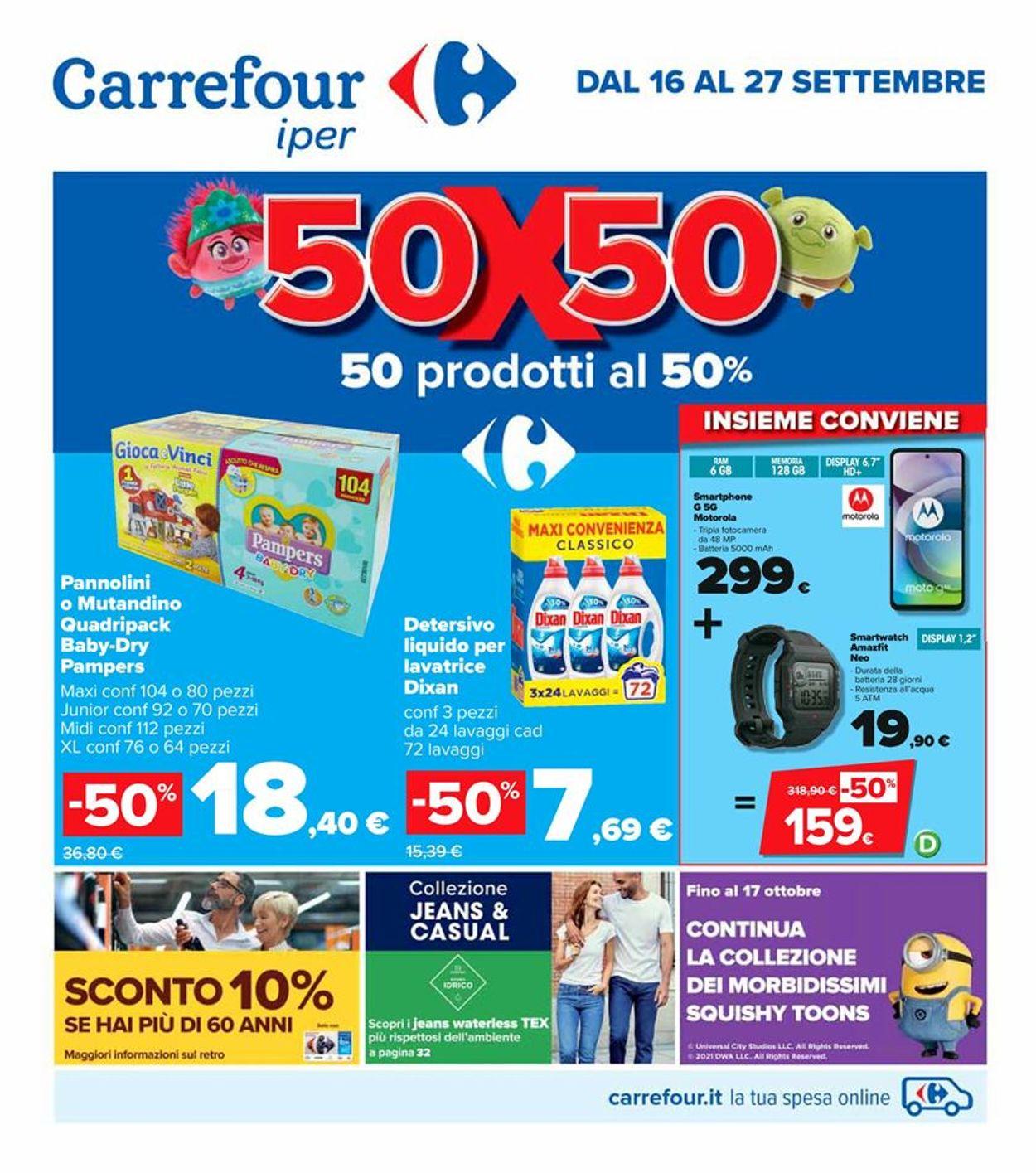 Volantino Carrefour - Offerte 16/09-27/09/2021