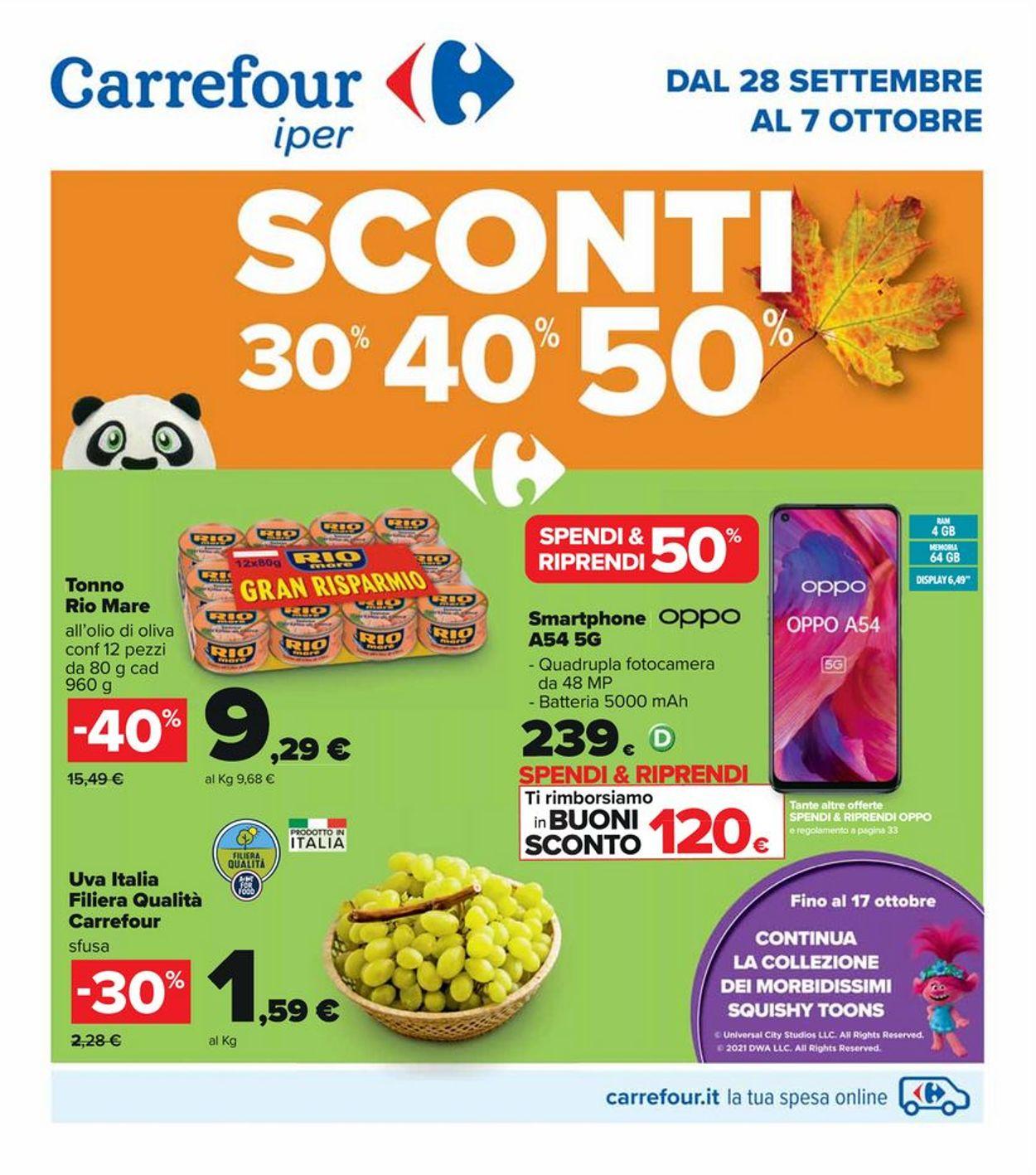 Volantino Carrefour - Offerte 28/09-07/10/2021
