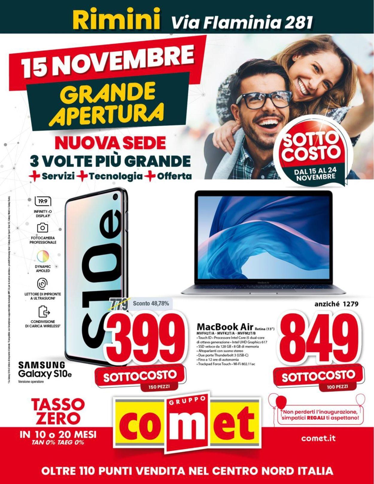 Volantino Comet - Offerte 15/11-24/11/2019