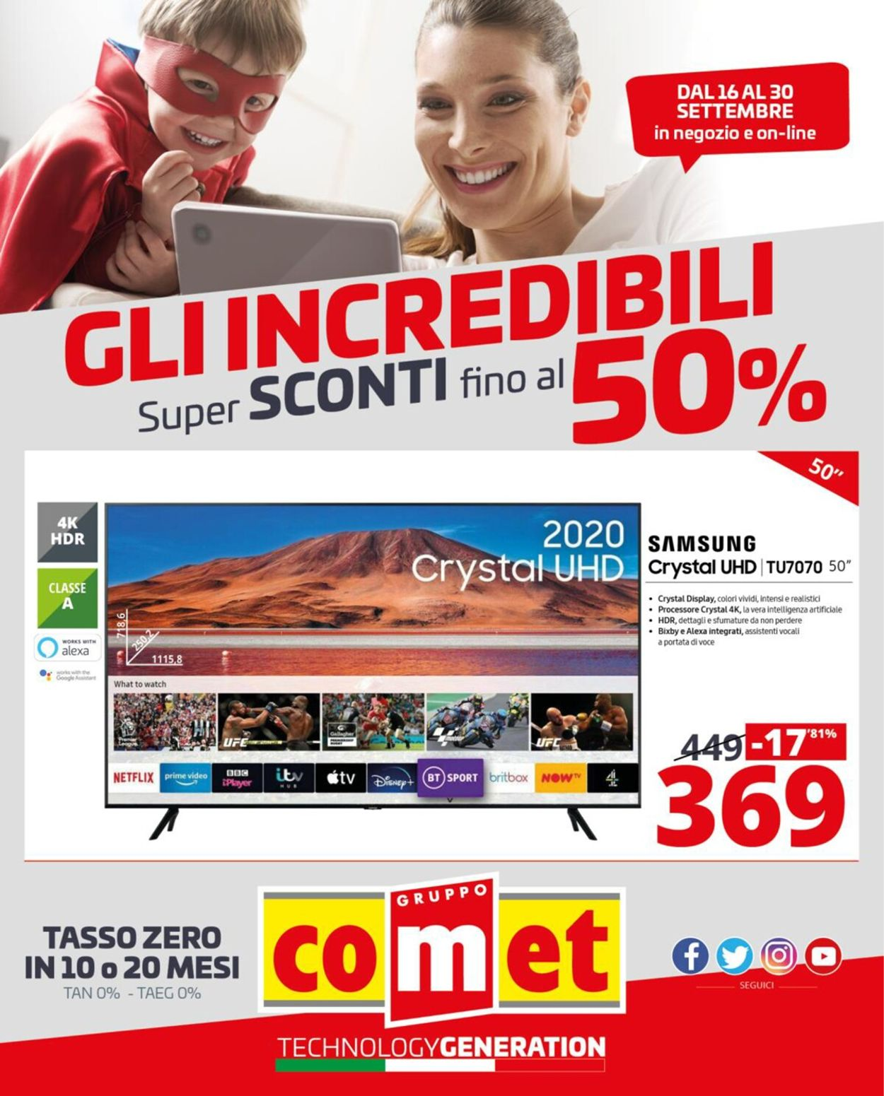Volantino Comet - Offerte 16/09-30/09/2020