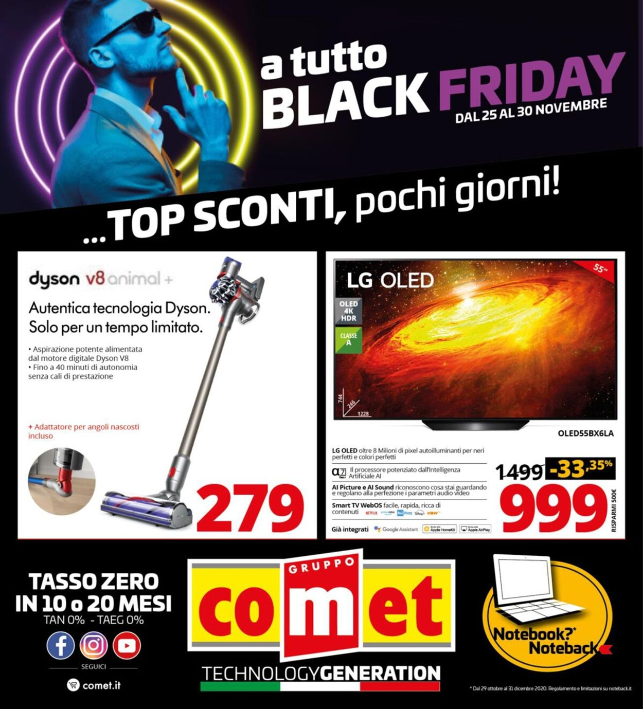 Volantino Comet - Black Friday 2020 - Offerte 25/11-30/11/2020