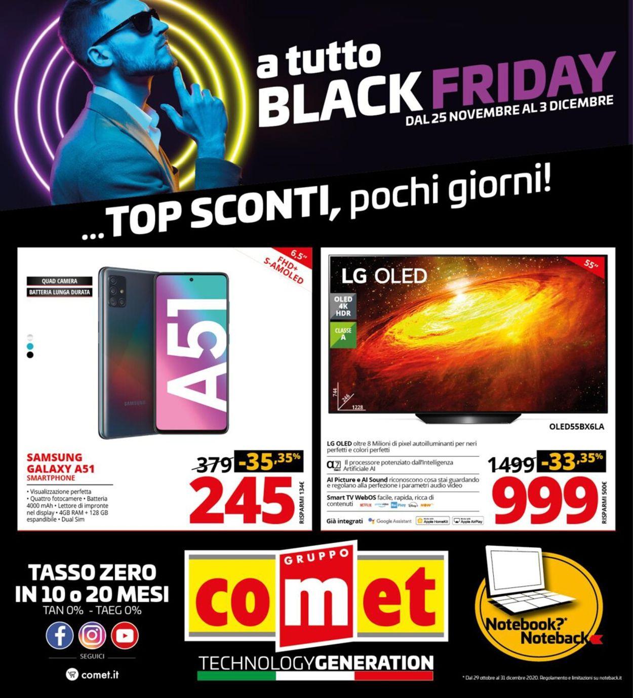 Volantino Comet  Black Friday 2020 - Offerte 25/11-03/12/2020