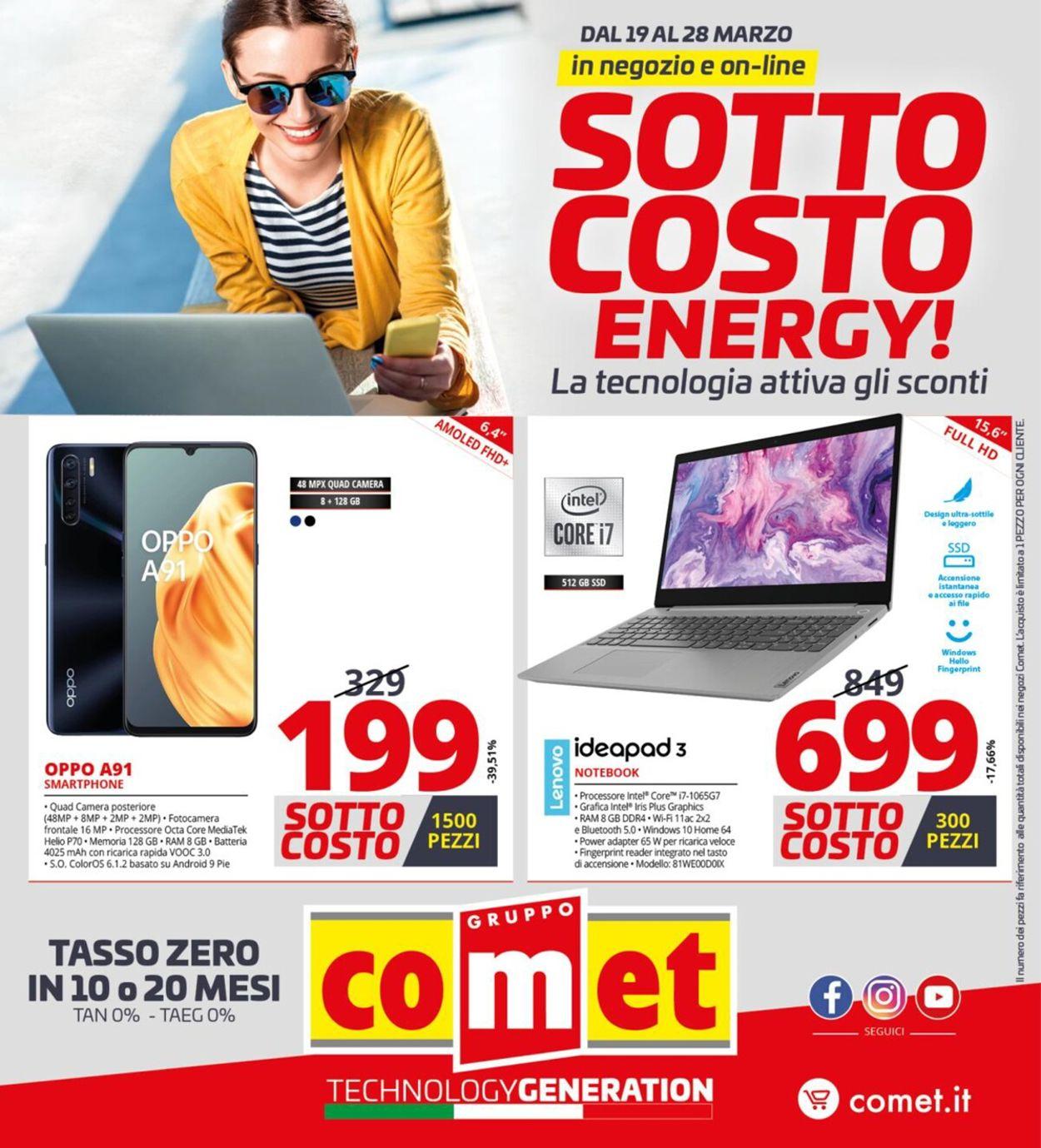 Volantino Comet - Offerte 19/03-28/03/2021
