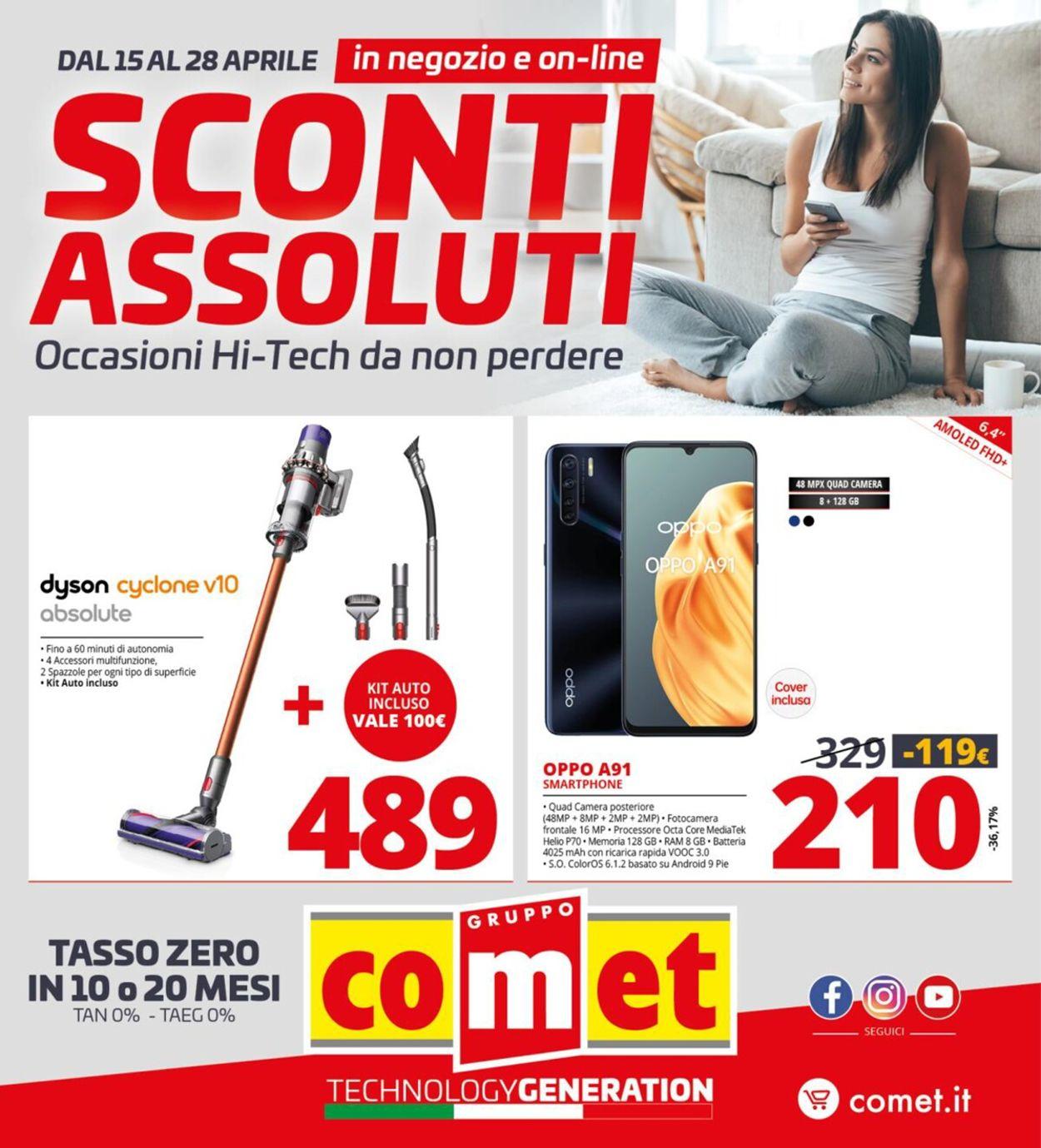 Volantino Comet - Offerte 15/04-28/04/2021